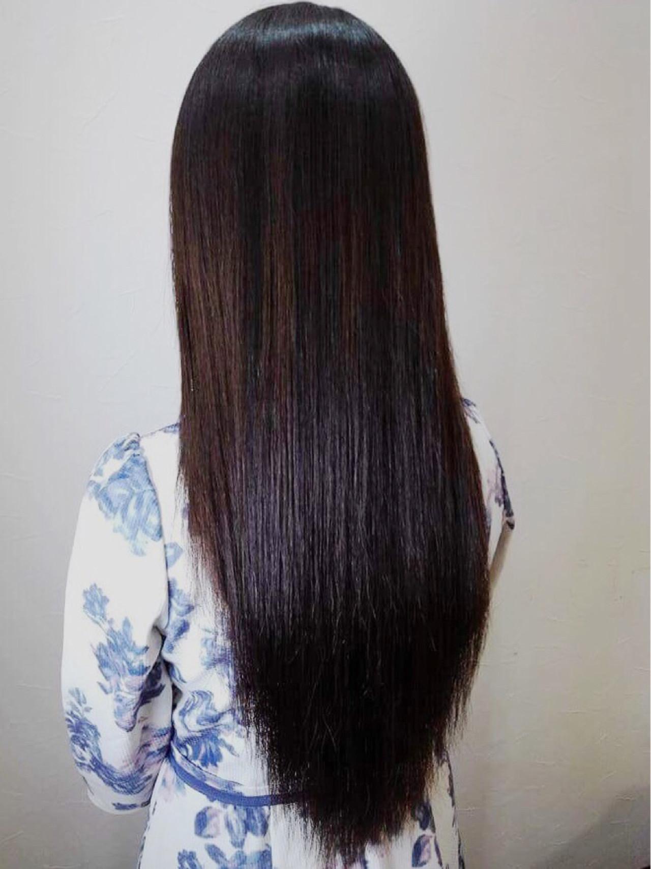 髪型 ロング ストレート 後ろ
