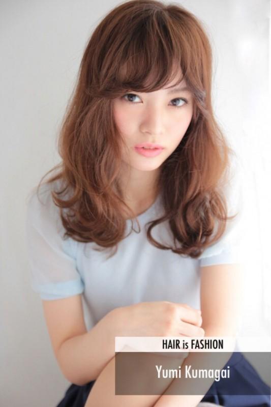 ゆるふわセミロングがタイプ♡パーマで作る大人かわいいヘアスタイル(髪型) Yumi Kumagai