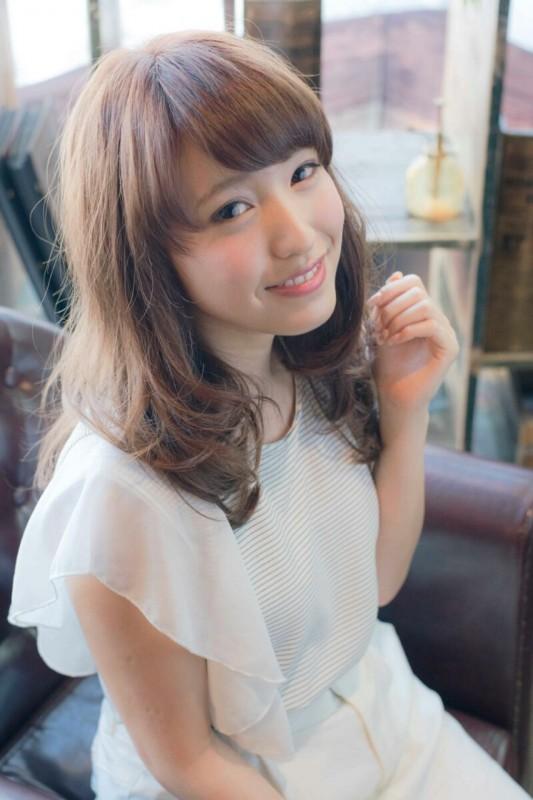 ゆるふわセミロングがタイプ♡パーマで作る大人かわいいヘアスタイル(髪型) 淀川 純