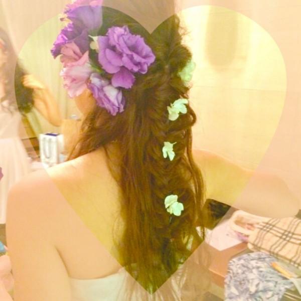 女の子はみんな大好き!お花を使ったヘアアレンジがかわいすぎる♡ yumi♡