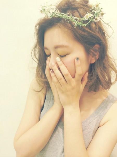 女の子はみんな大好き!お花を使ったヘアアレンジがかわいすぎる♡ asako/nanuk shibuya