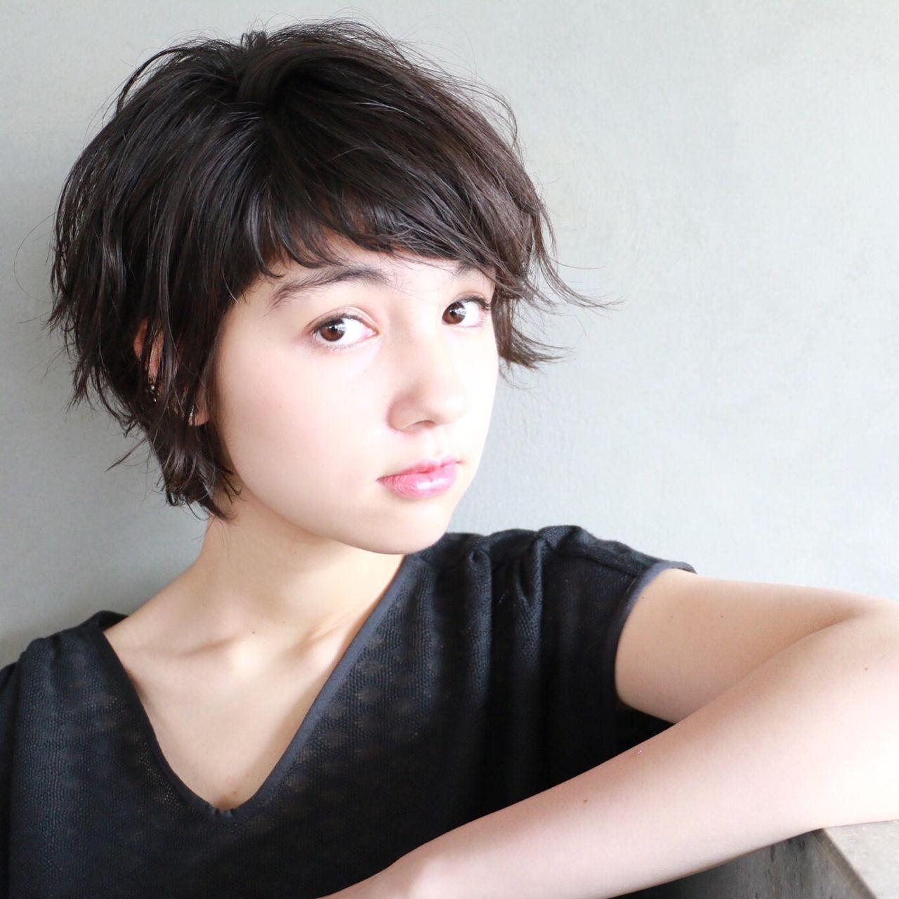 黒髪ショートヘアの人気集♡面長・丸顔・前髪ありなしにCHECKしよ