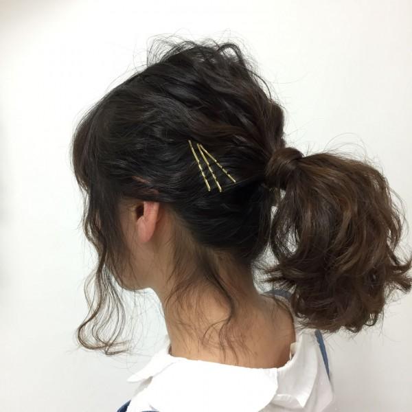 可愛さあふれる後姿はポニーテール×巻き髪で作れる 北島 玲那