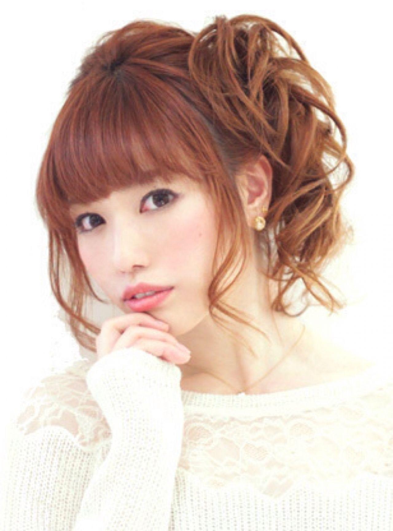 大人かわいい アップスタイル 愛され 編み込み ヘアスタイルや髪型の写真・画像