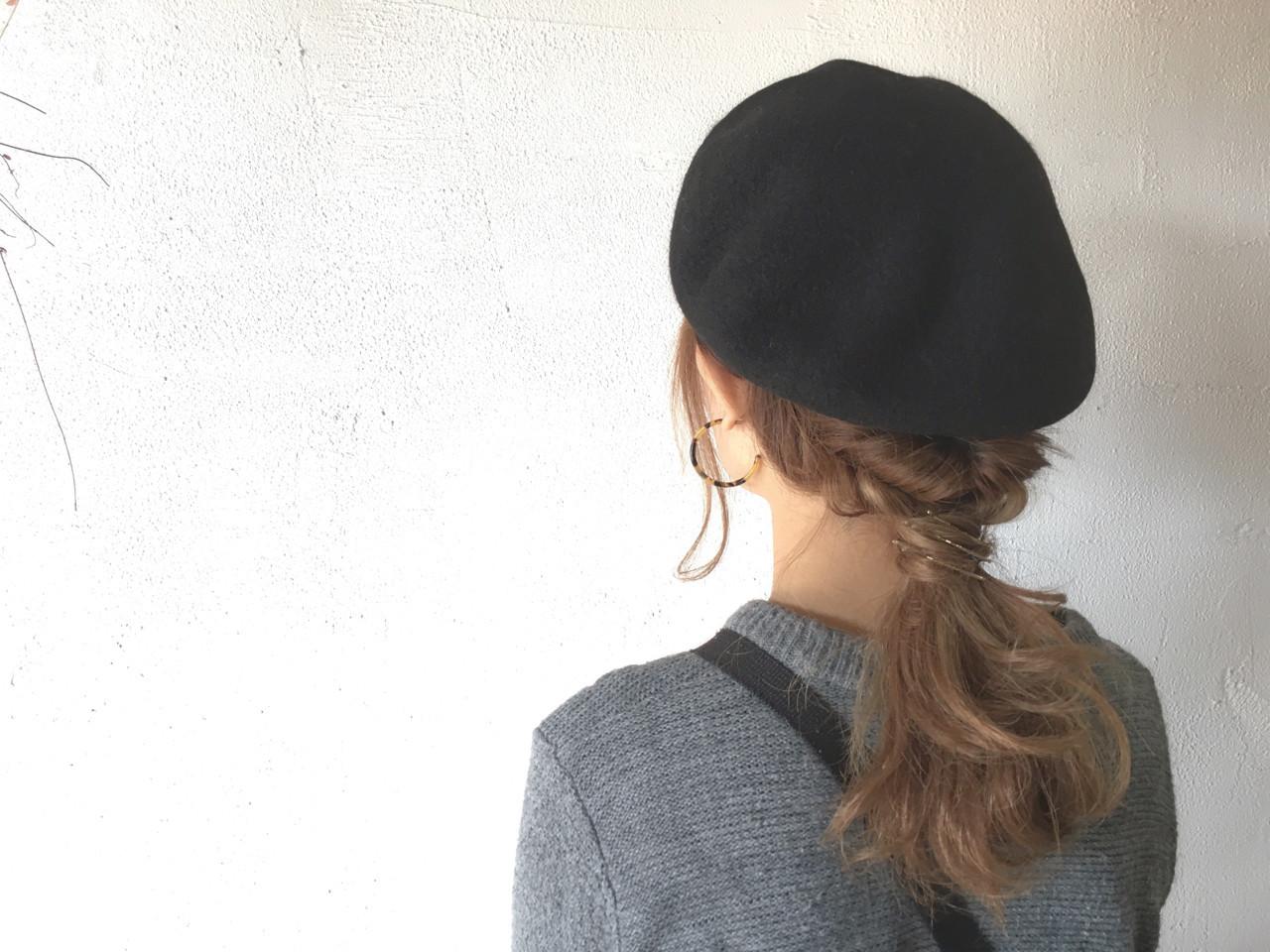 この冬必見!ニット帽、ベレー帽に合うヘアアレンジ  尾崎裕介