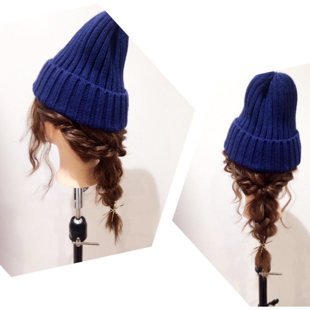 この冬必見!ニット帽、ベレー帽に合うヘアアレンジ  畑中潤