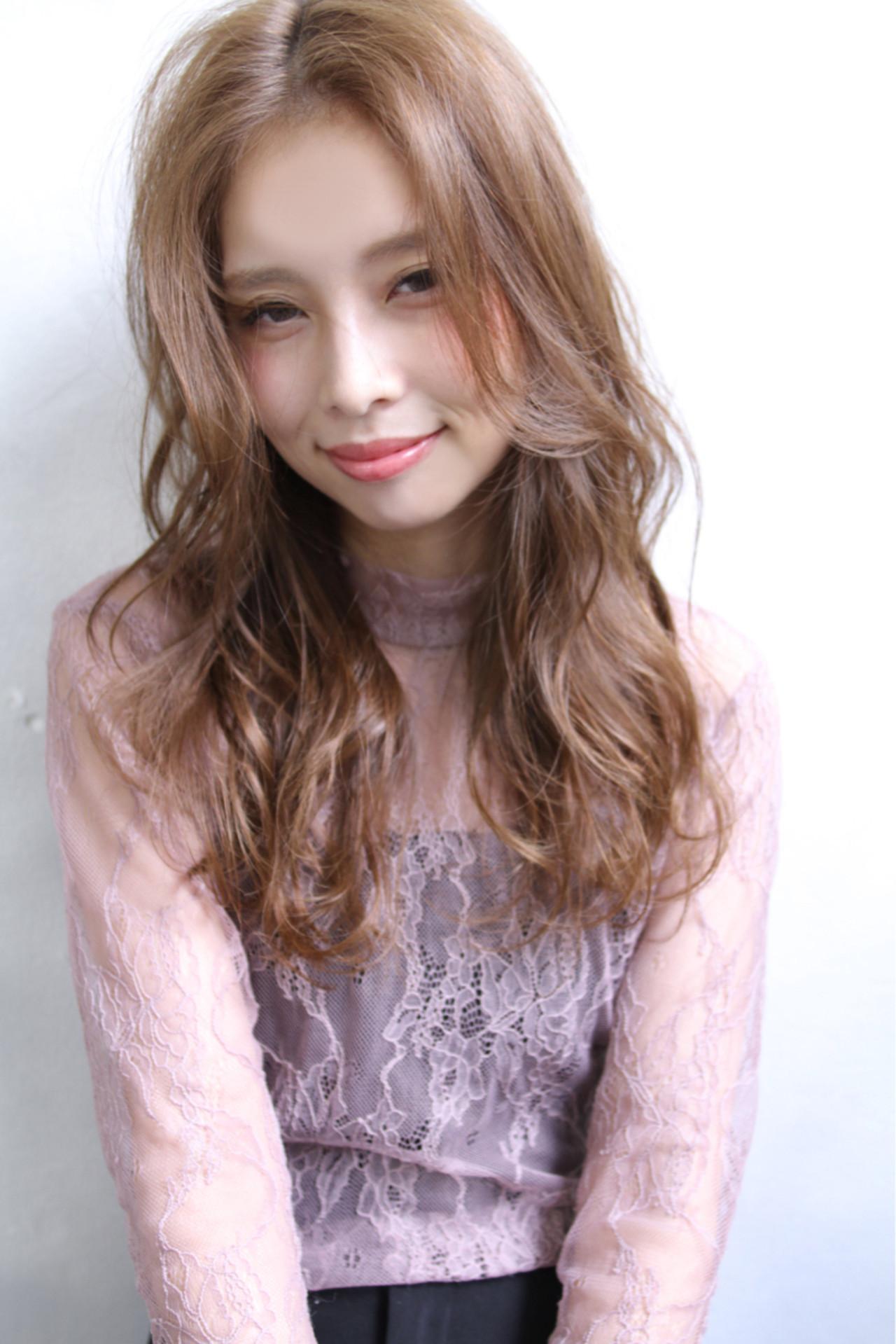 前髪あり 冬 ロング アッシュ ヘアスタイルや髪型の写真・画像
