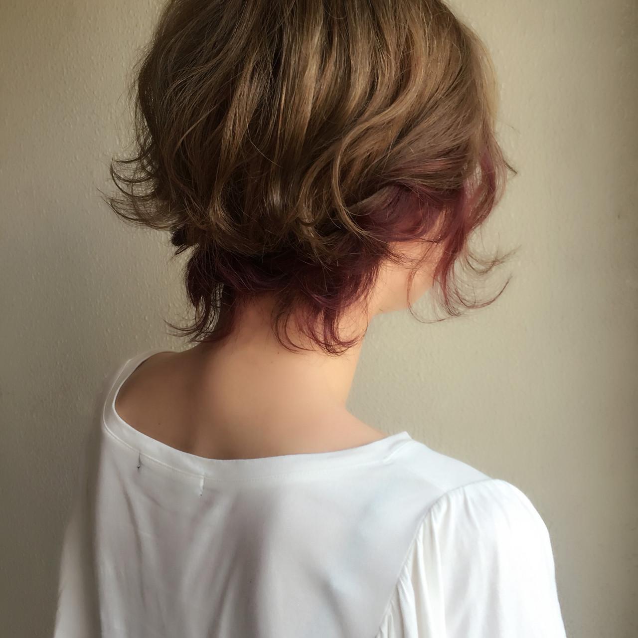 ストリート 波ウェーブ ヘアアレンジ ショート ヘアスタイルや髪型の写真・画像