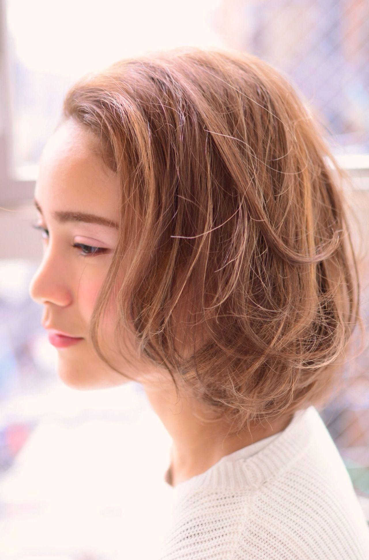 ストリート ブラウンベージュ ガーリー 外国人風 ヘアスタイルや髪型の写真・画像