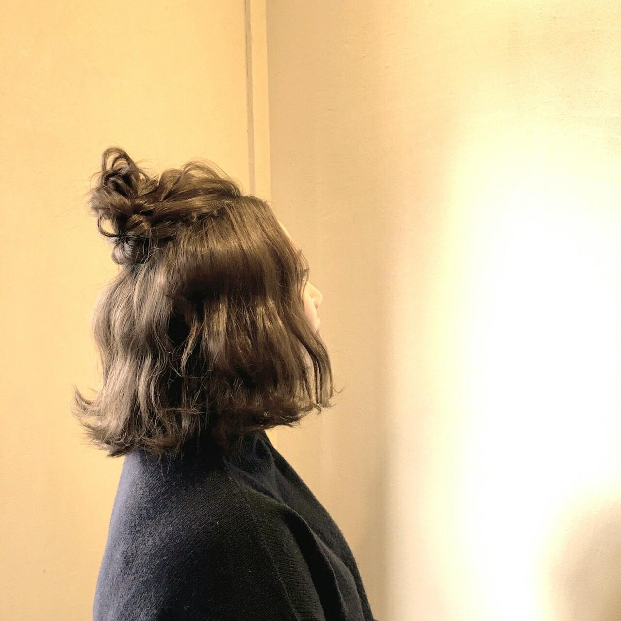 大人かわいい ショート ボブ ヘアアレンジ ヘアスタイルや髪型の写真・画像