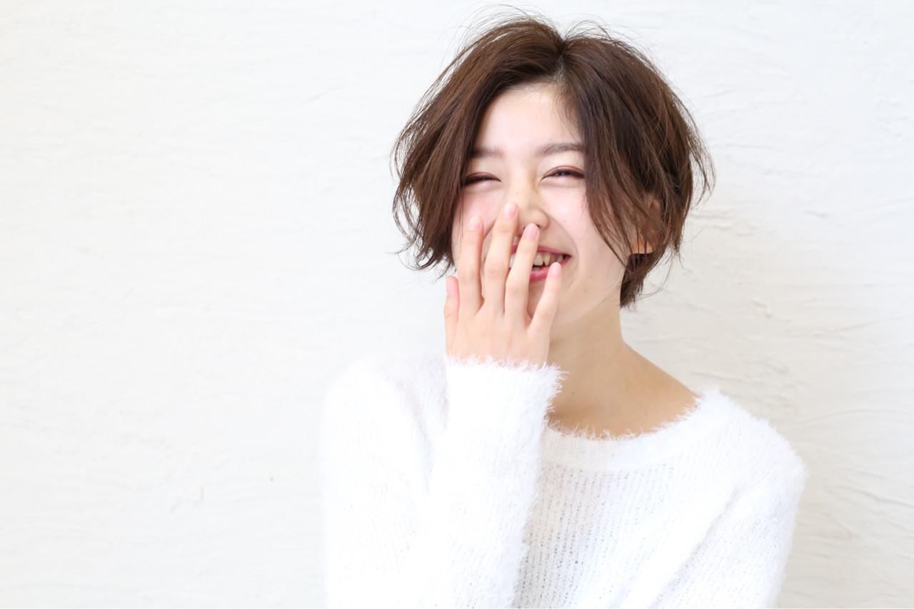 """40代におすすめ。""""前髪なしショート""""で作る大人きれい TOMOMI"""