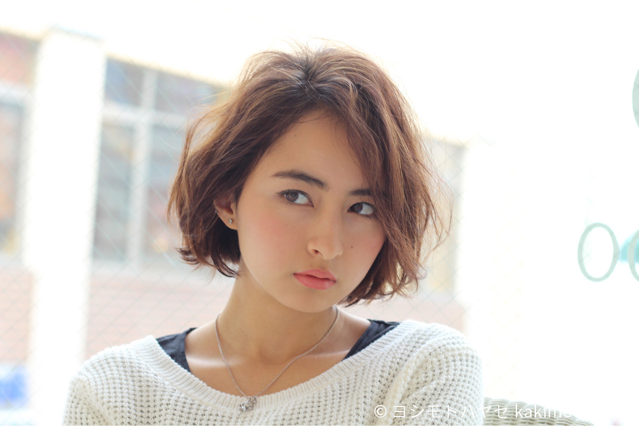 """40代におすすめ。""""前髪なしショート""""で作る大人きれい ヨシモトハヤセ kakimoto arms"""