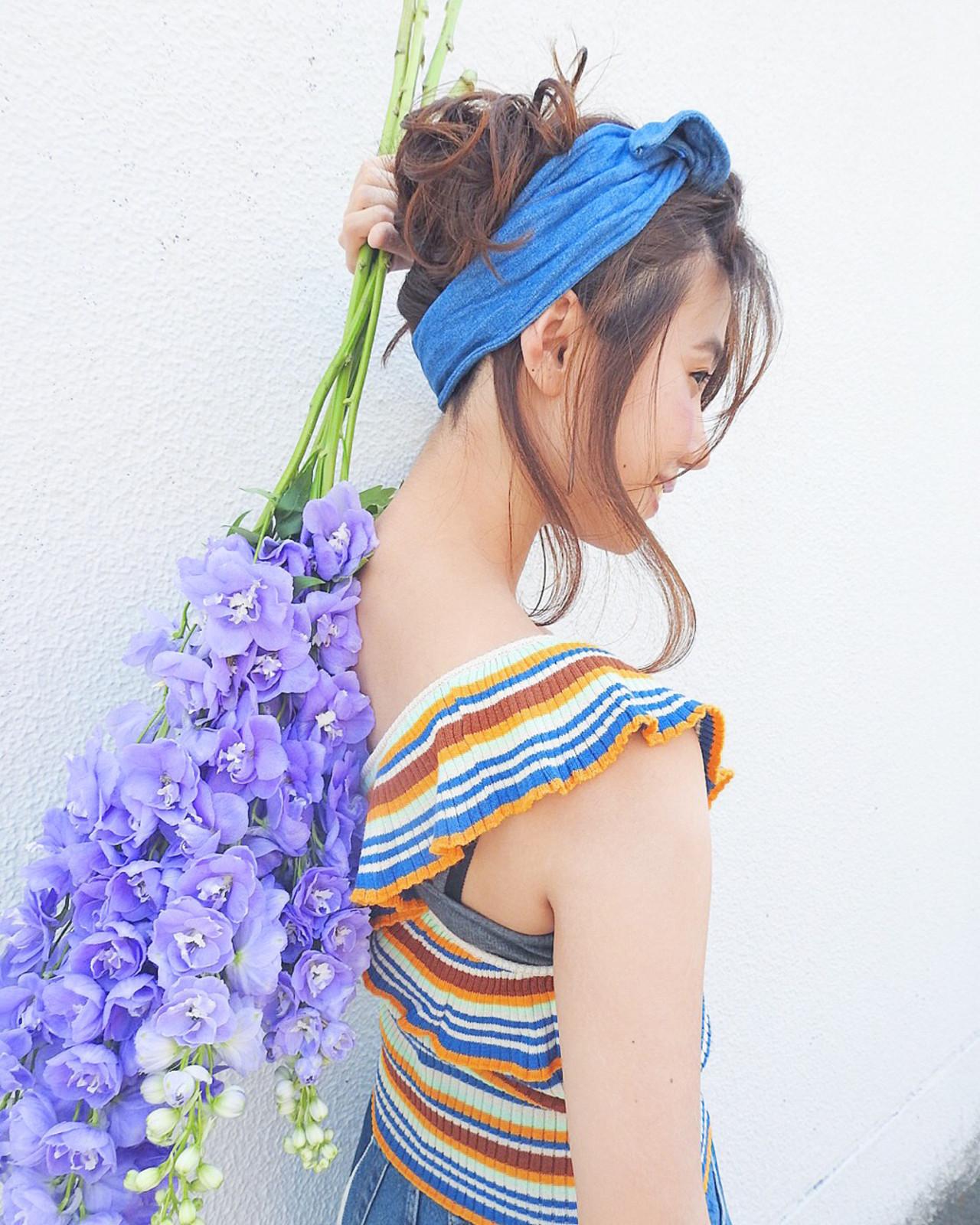 ヘアバンドを取り入れて、シーン選ばすグッとオシャレな髪型に♡ 竹村 春香