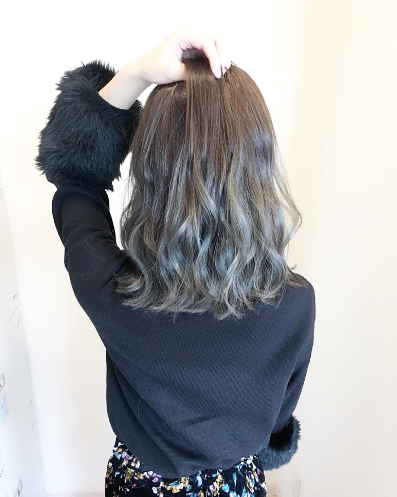 外国人風カラー ミディアム 秋 モテ髪 ヘアスタイルや髪型の写真・画像