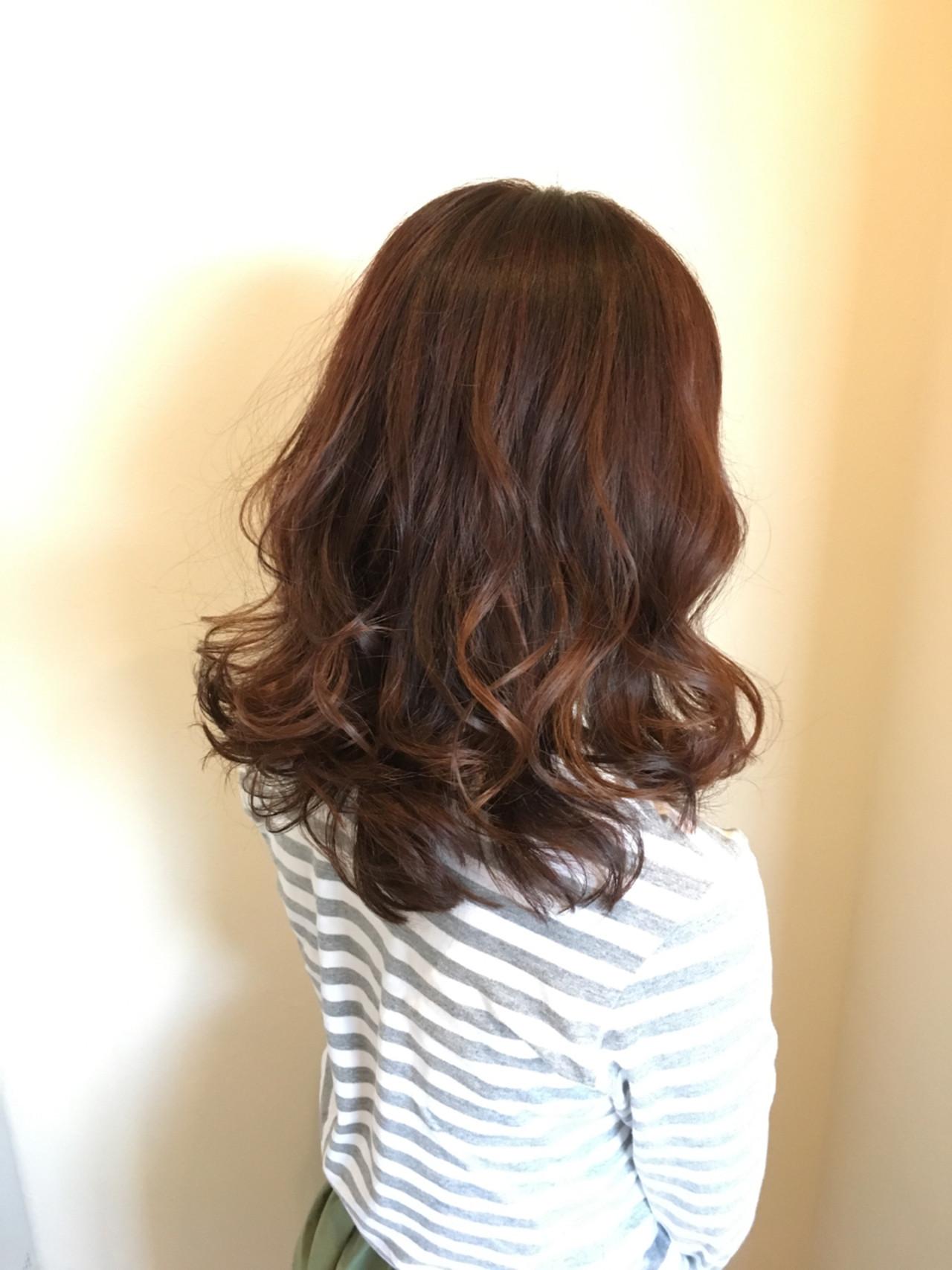 春 夏 モテ髪 セミロング ヘアスタイルや髪型の写真・画像