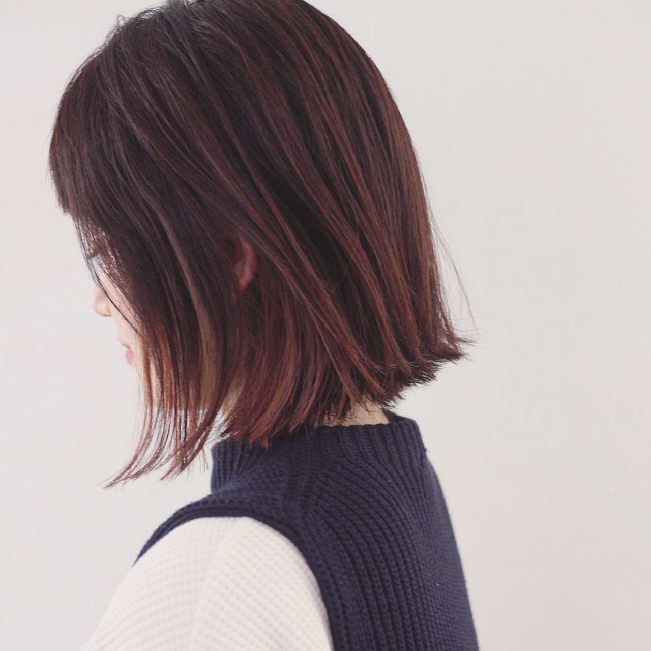 グラデーションカラー ボブ 抜け感 外国人風カラー ヘアスタイルや髪型の写真・画像