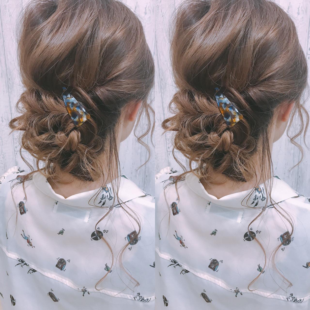女子会 着物 簡単ヘアアレンジ ロング ヘアスタイルや髪型の写真・画像