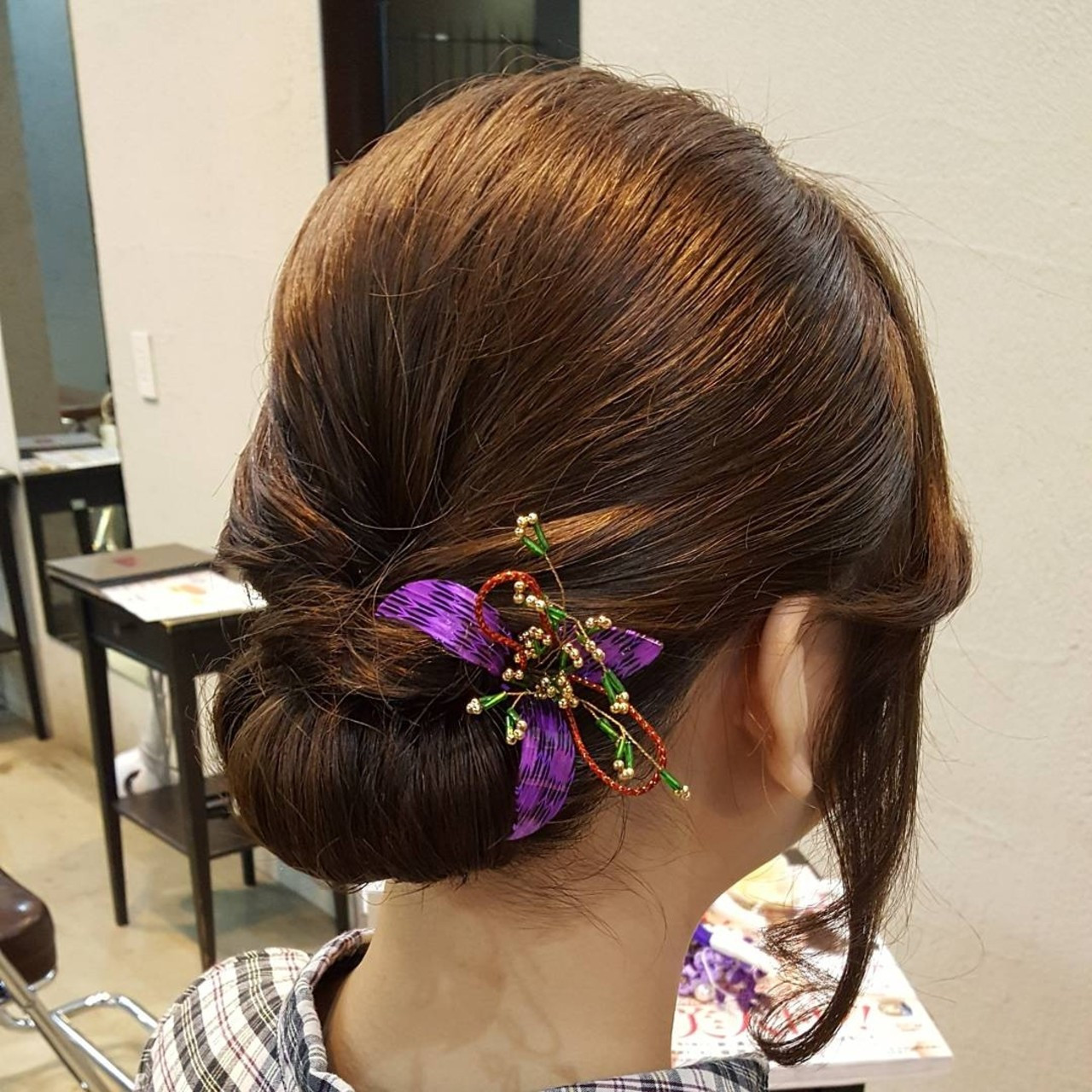和装 着物 セミロング ナチュラル ヘアスタイルや髪型の写真・画像