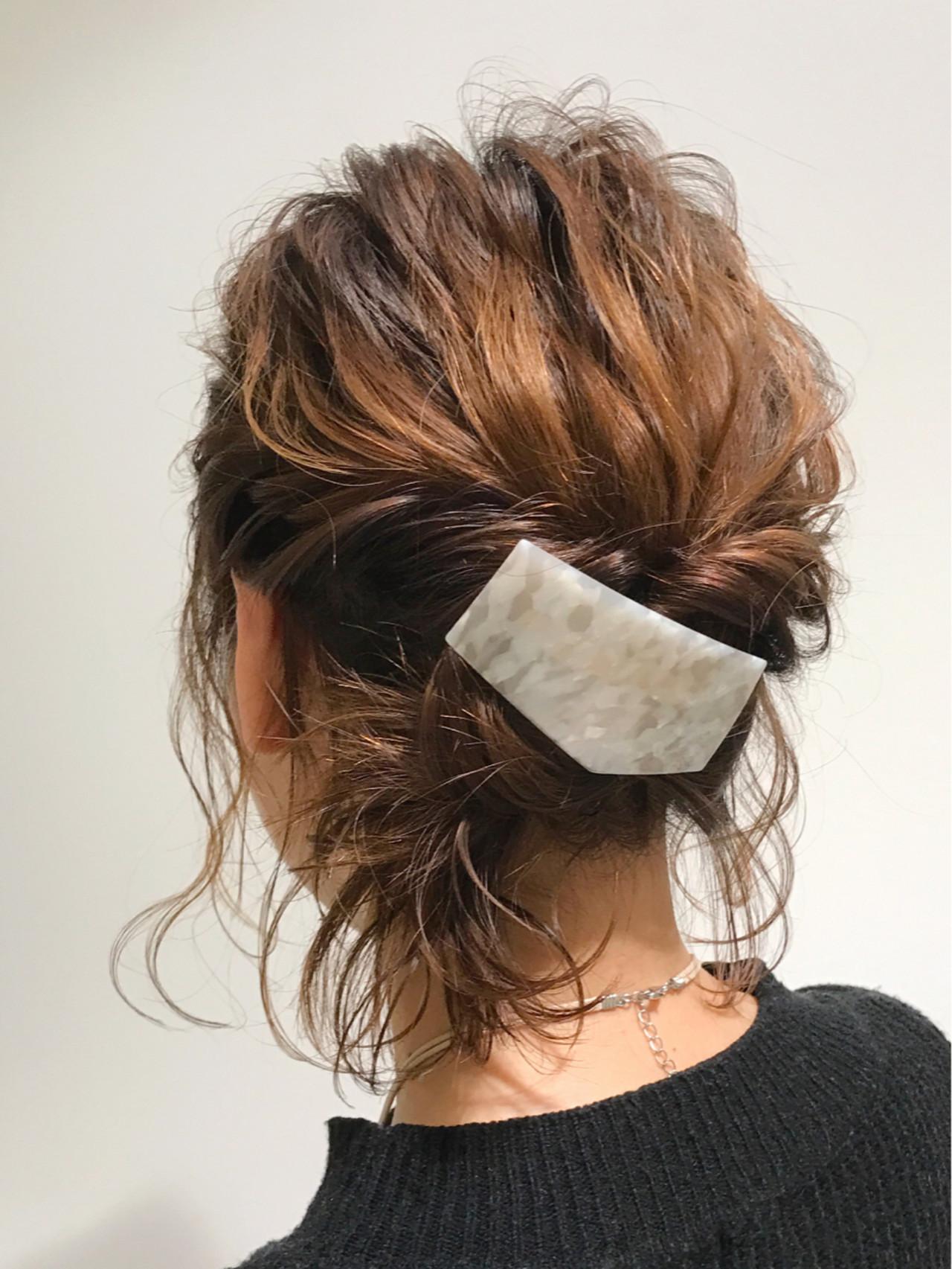 くるりんぱ ヘアアレンジ ハーフアップ ゆるふわ ヘアスタイルや髪型の写真・画像