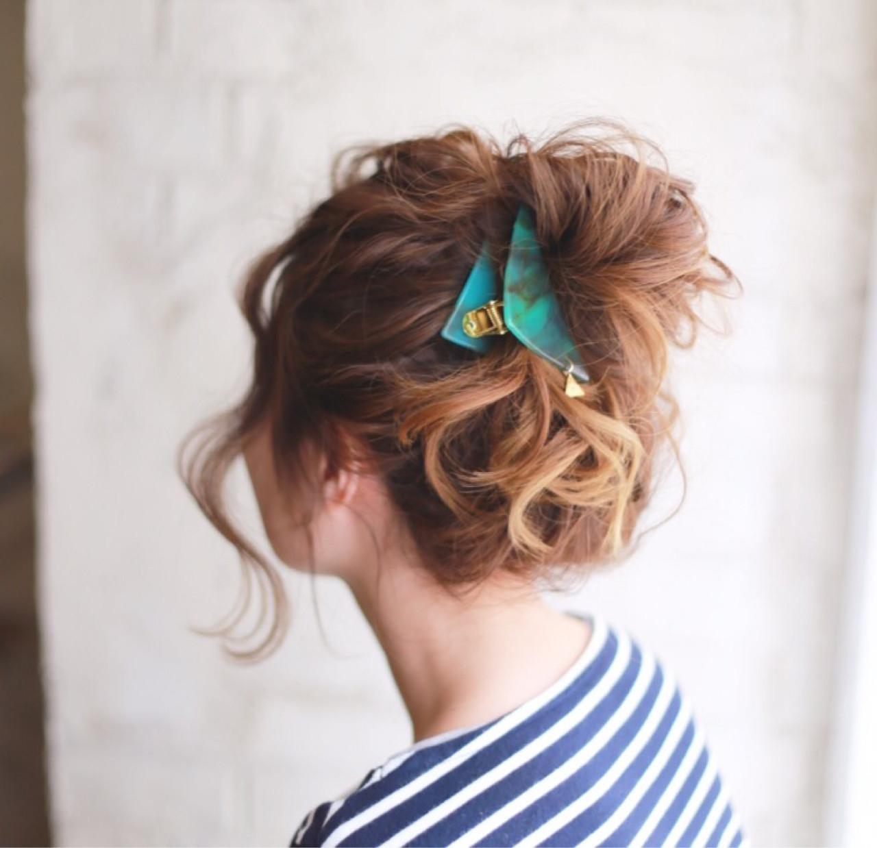 外国人風 ヘアアレンジ 簡単ヘアアレンジ ゆるふわ ヘアスタイルや髪型の写真・画像