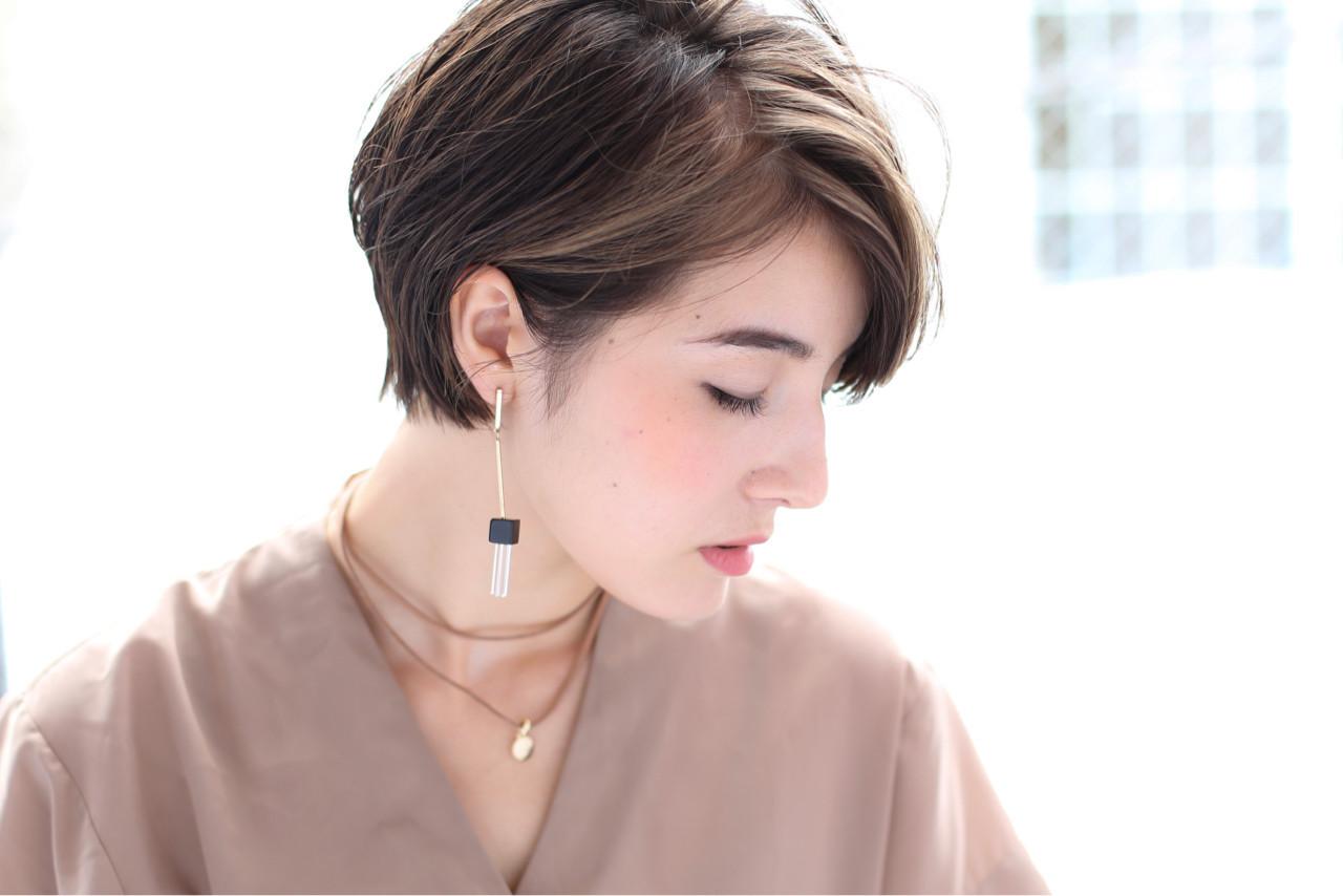 ショート ベリーショート ナチュラル 透明感 ヘアスタイルや髪型の写真・画像