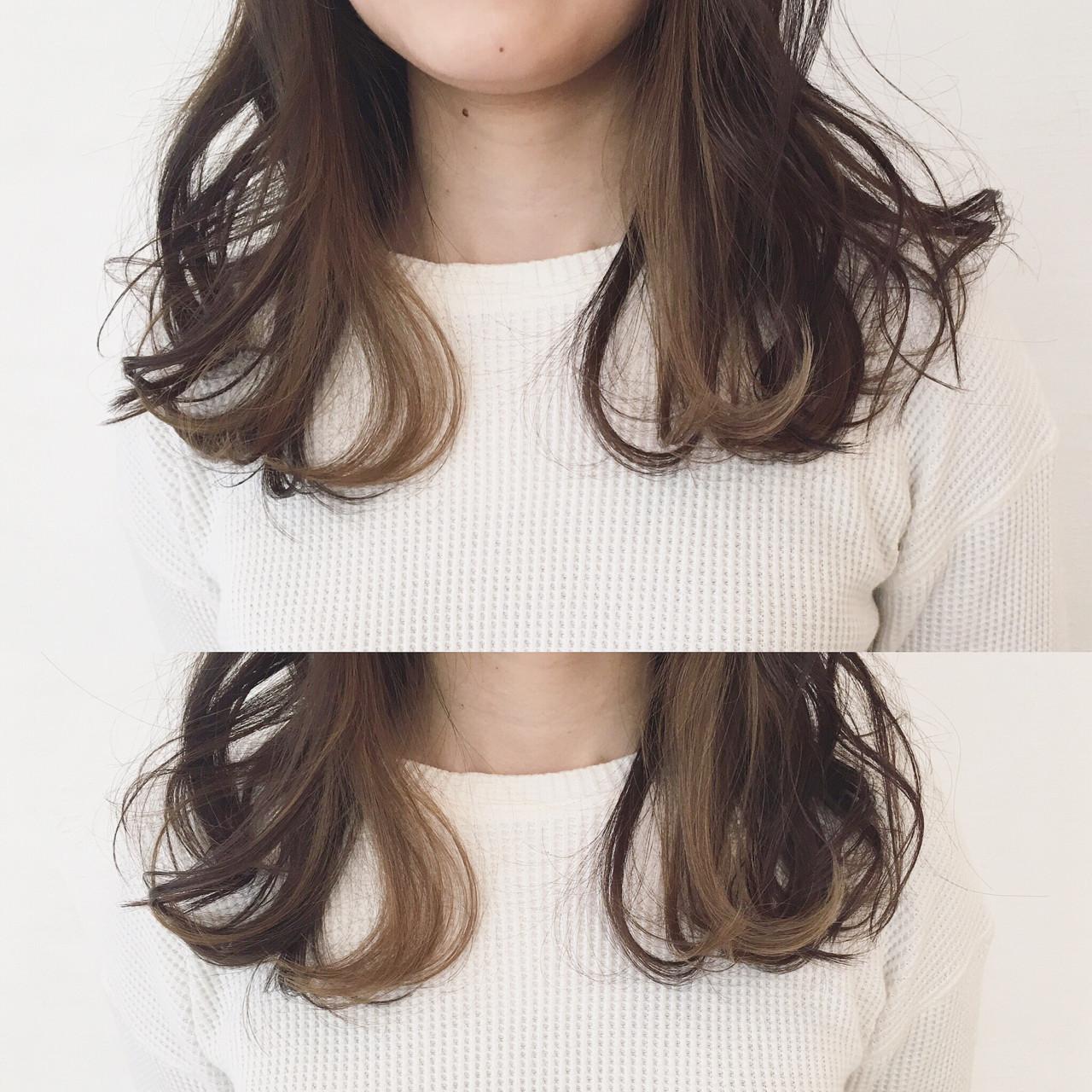 ハイライト 大人女子 パーマ 小顔 ヘアスタイルや髪型の写真・画像