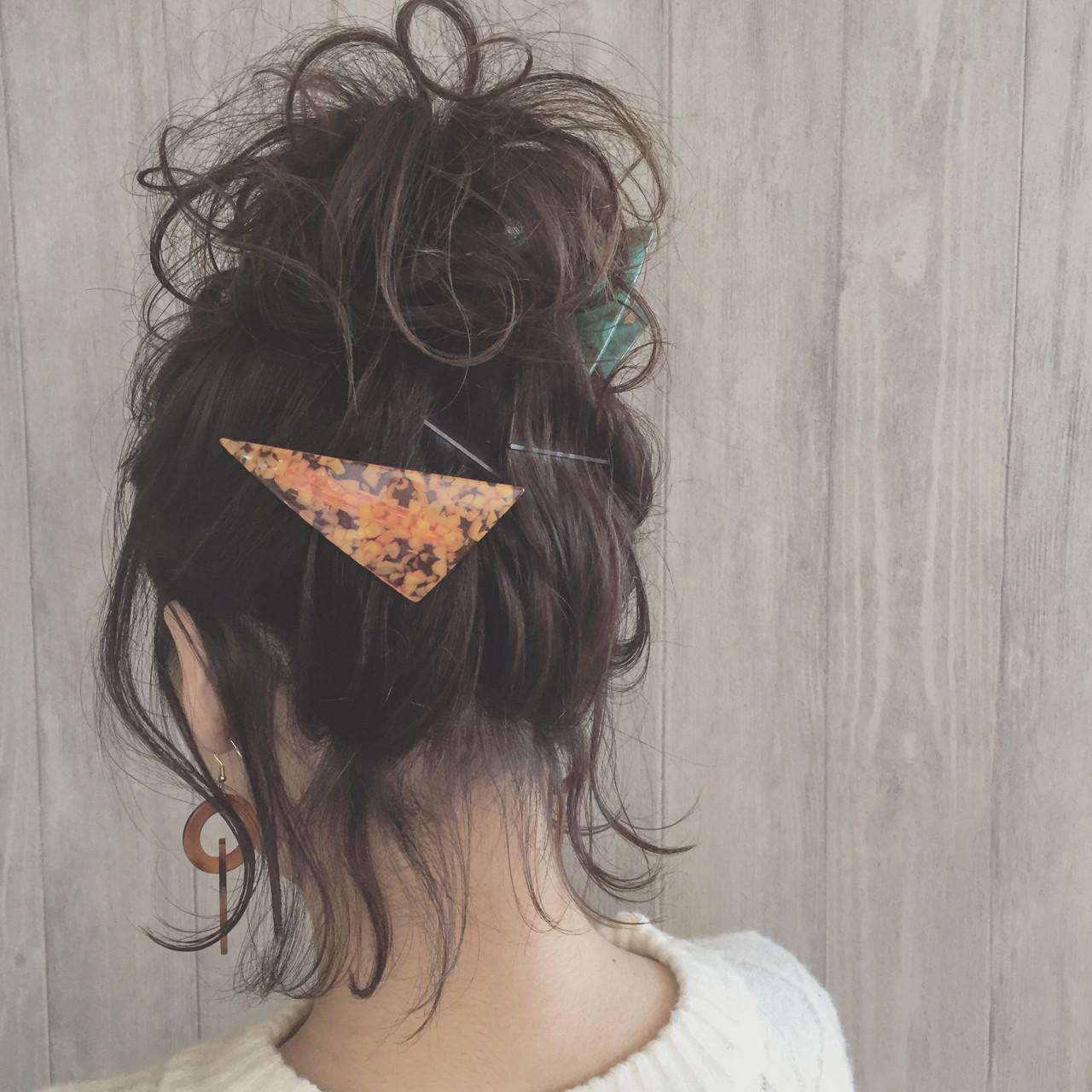 ガーリー ヘアアレンジ ゆるふわ ふわふわ ヘアスタイルや髪型の写真・画像