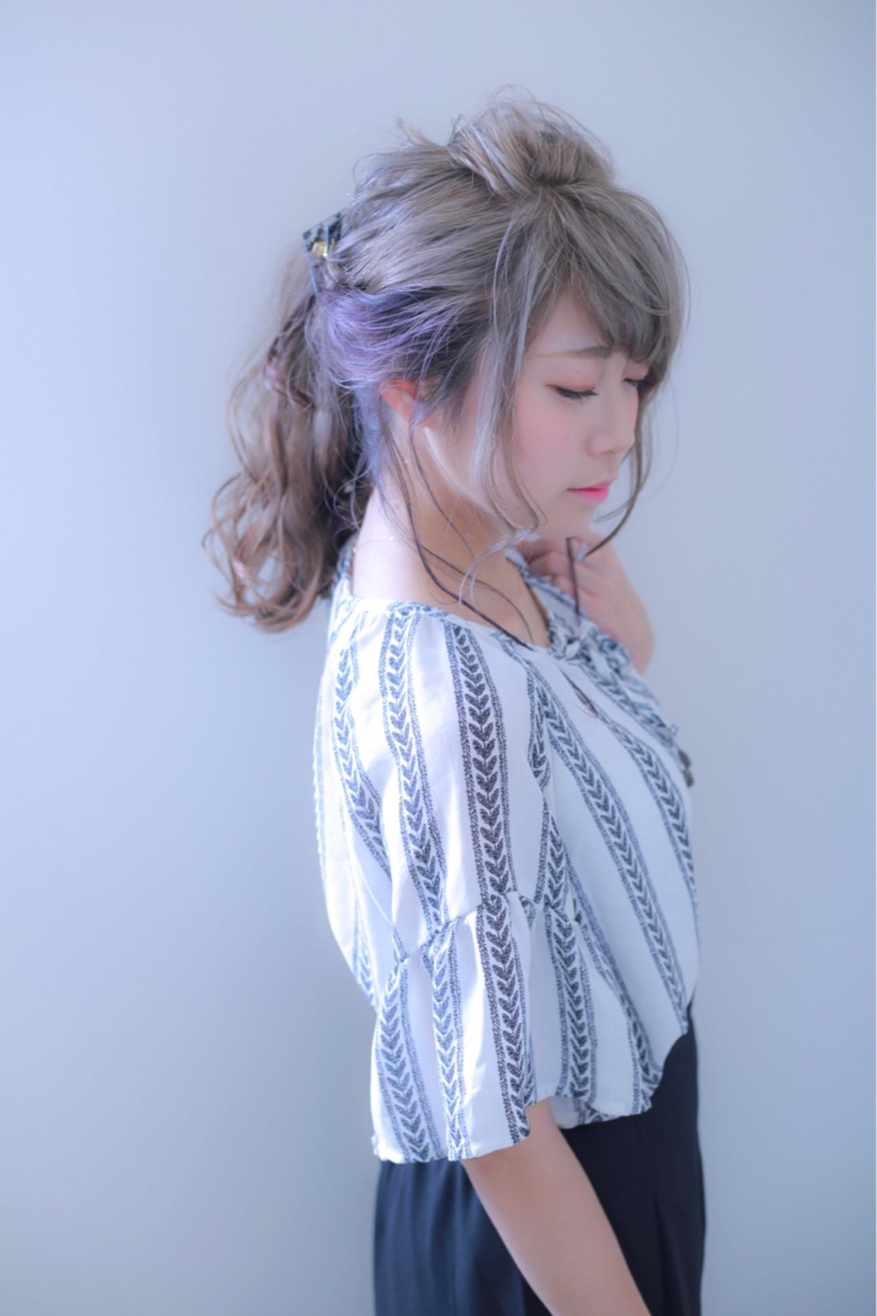 ポニーテール 女子会 ヘアアレンジ デート ヘアスタイルや髪型の写真・画像