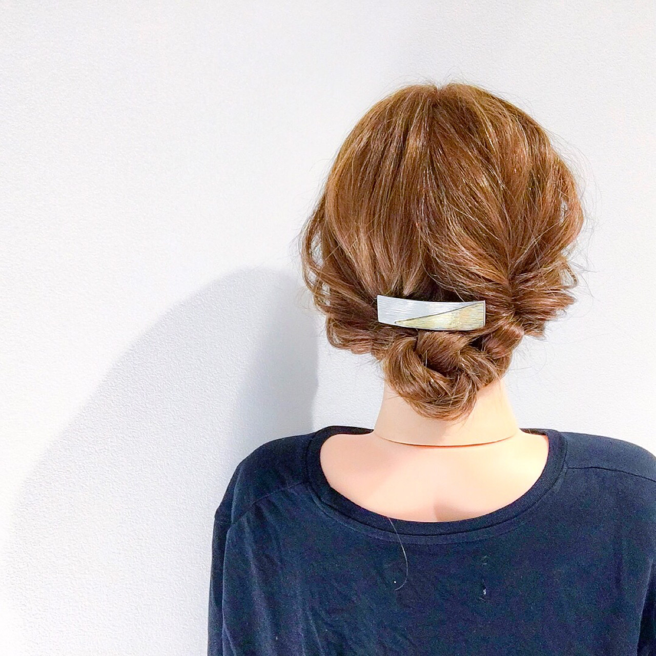 デート フェミニン セミロング ヘアアレンジ ヘアスタイルや髪型の写真・画像