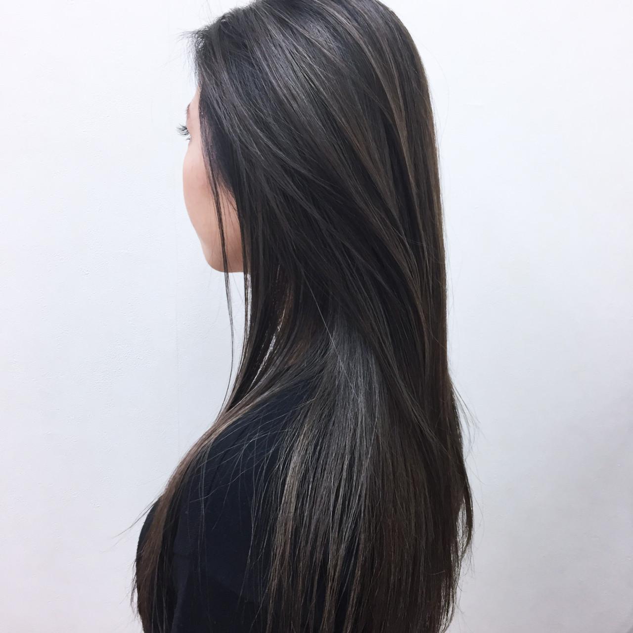 冬 ローライト ナチュラル ロング ヘアスタイルや髪型の写真・画像