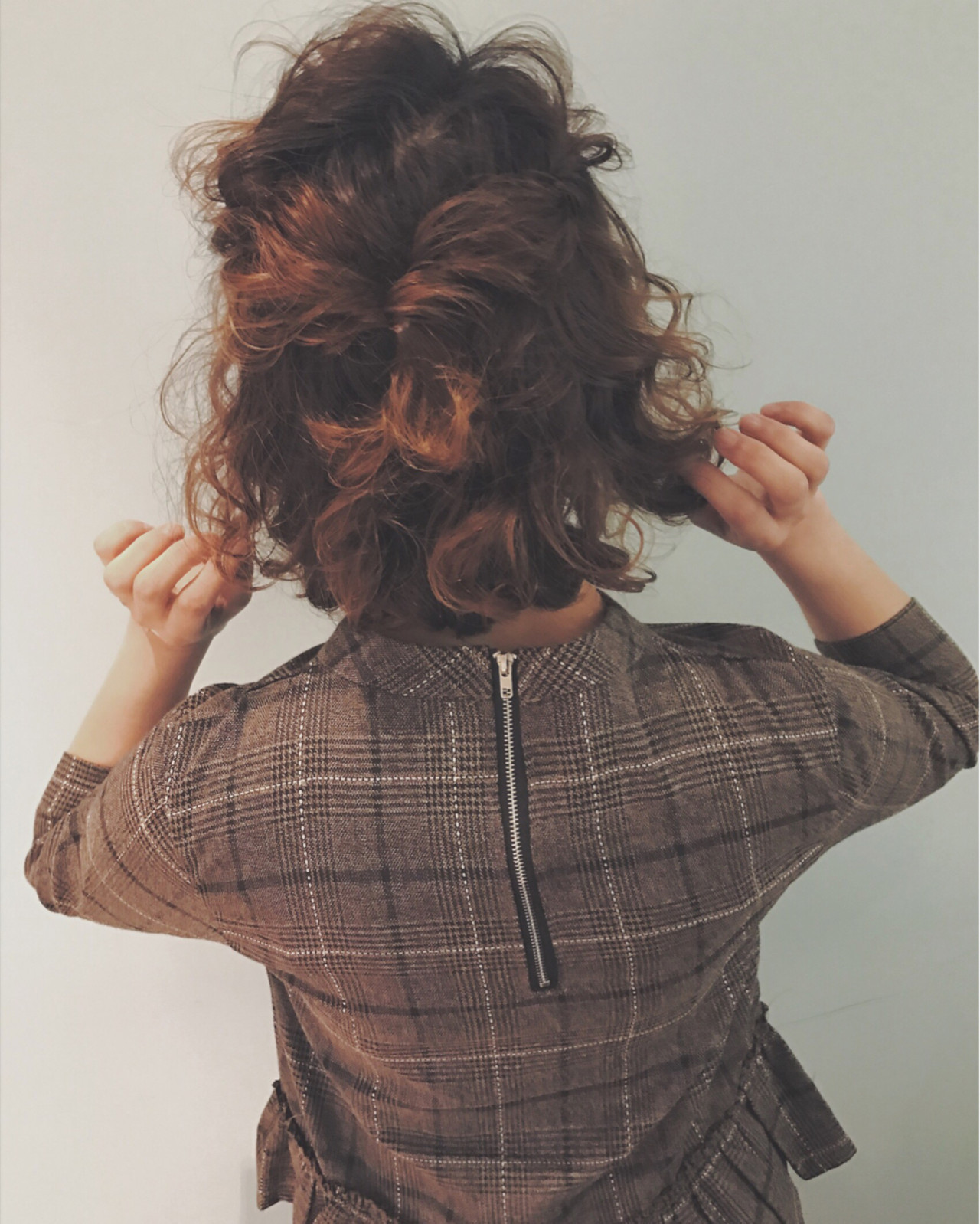 簡単ヘアアレンジ ヘアアレンジ ガーリー ボブ ヘアスタイルや髪型の写真・画像