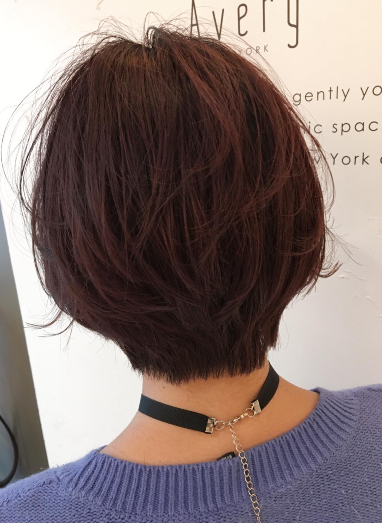 簡単ヘアアレンジ ヘアアレンジ ショート グラデーションカラー ヘアスタイルや髪型の写真・画像