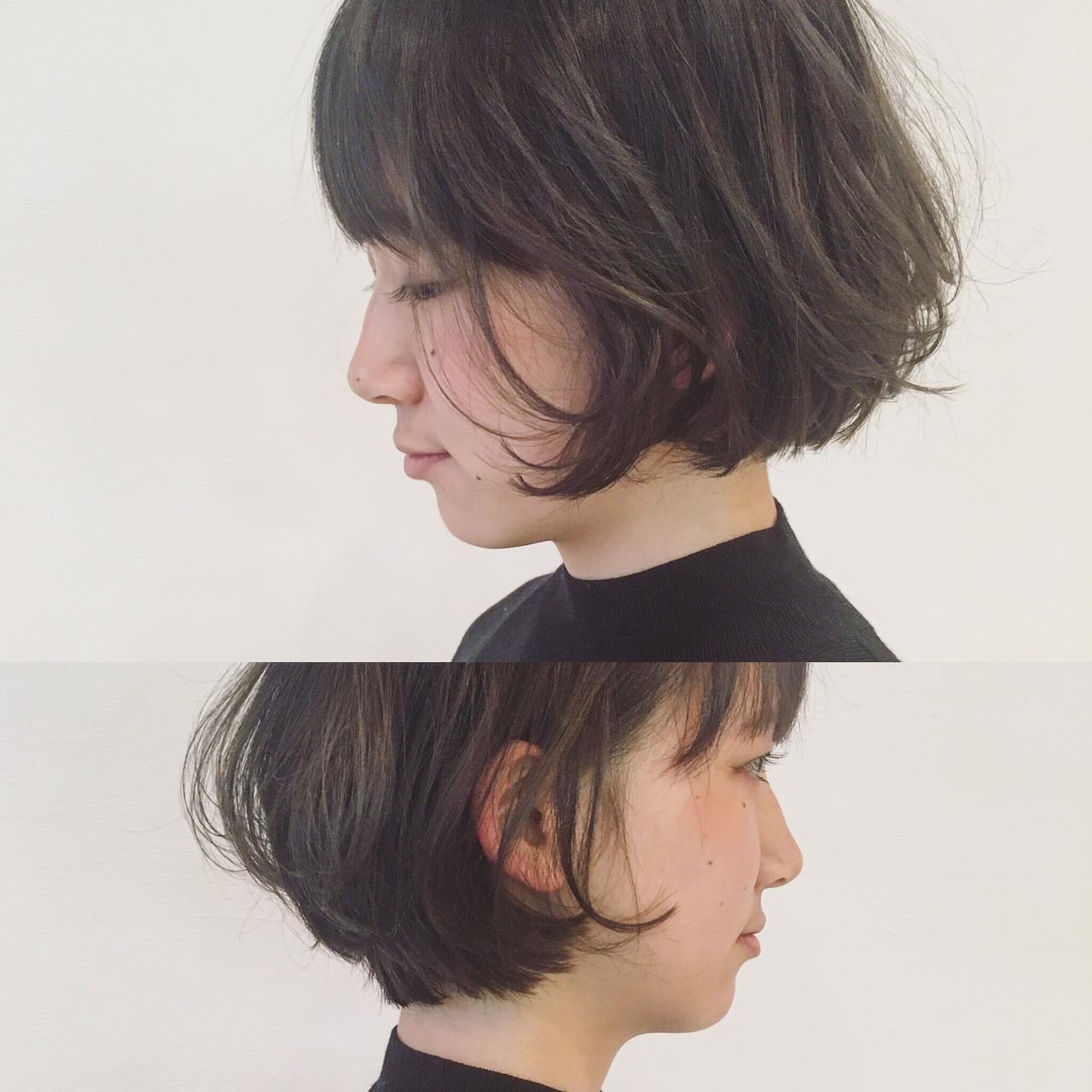 ナチュラル パーマ 色気 暗髪 ヘアスタイルや髪型の写真・画像