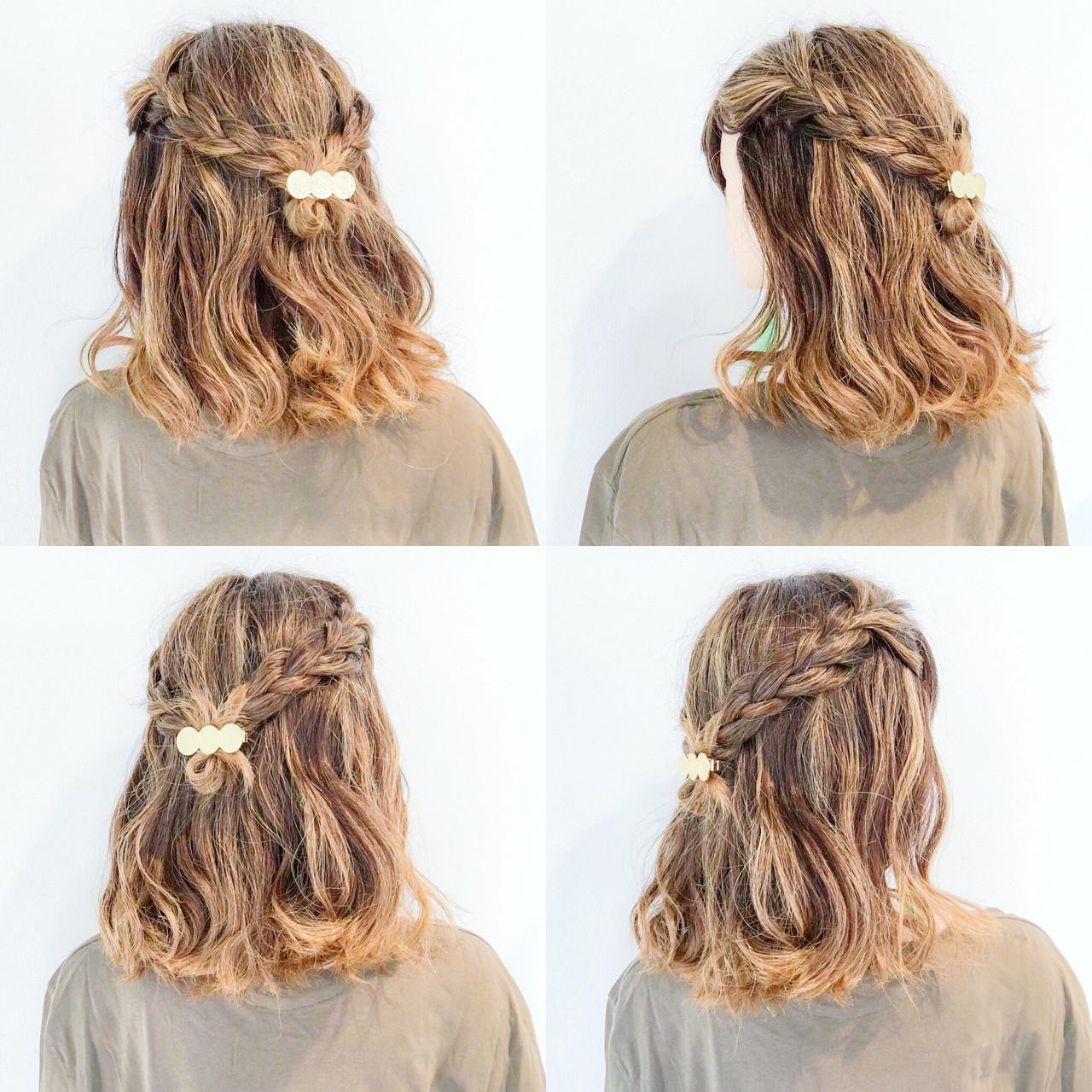 簡単ヘアアレンジ 色気 夏 フェミニン ヘアスタイルや髪型の写真・画像
