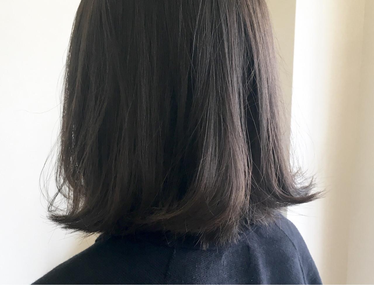 ボブ 秋 透明感 外ハネ ヘアスタイルや髪型の写真・画像