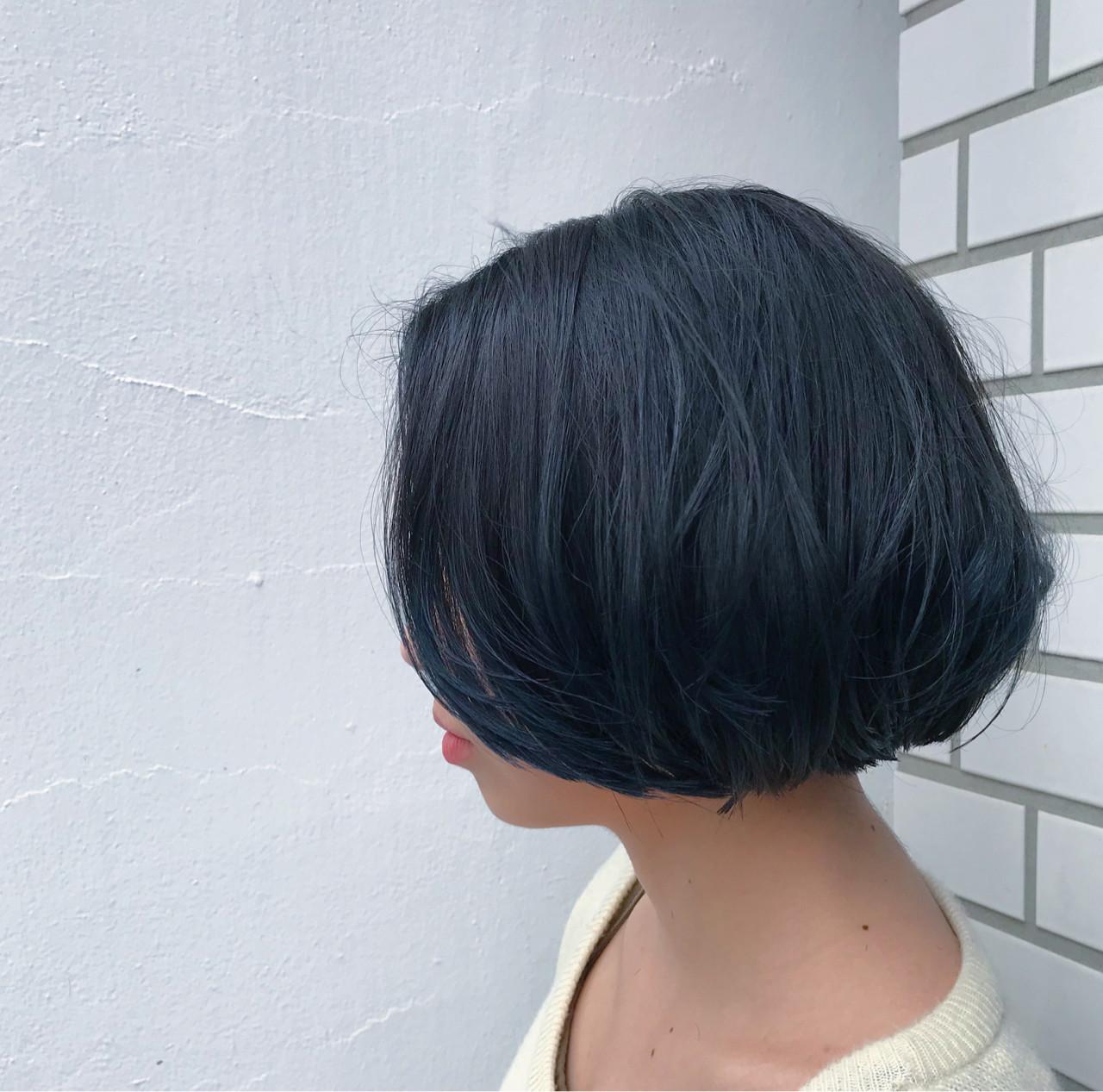 グラデーションカラー ボブ ブルージュ 個性的 ヘアスタイルや髪型の写真・画像