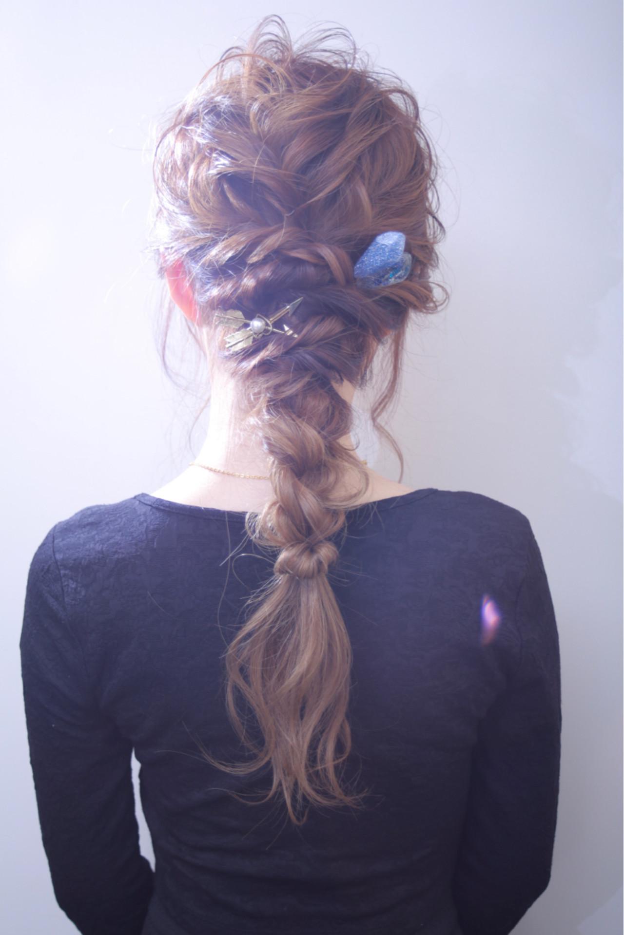 ゆるふわ ヘアアレンジ ヘアアクセ ロング ヘアスタイルや髪型の写真・画像