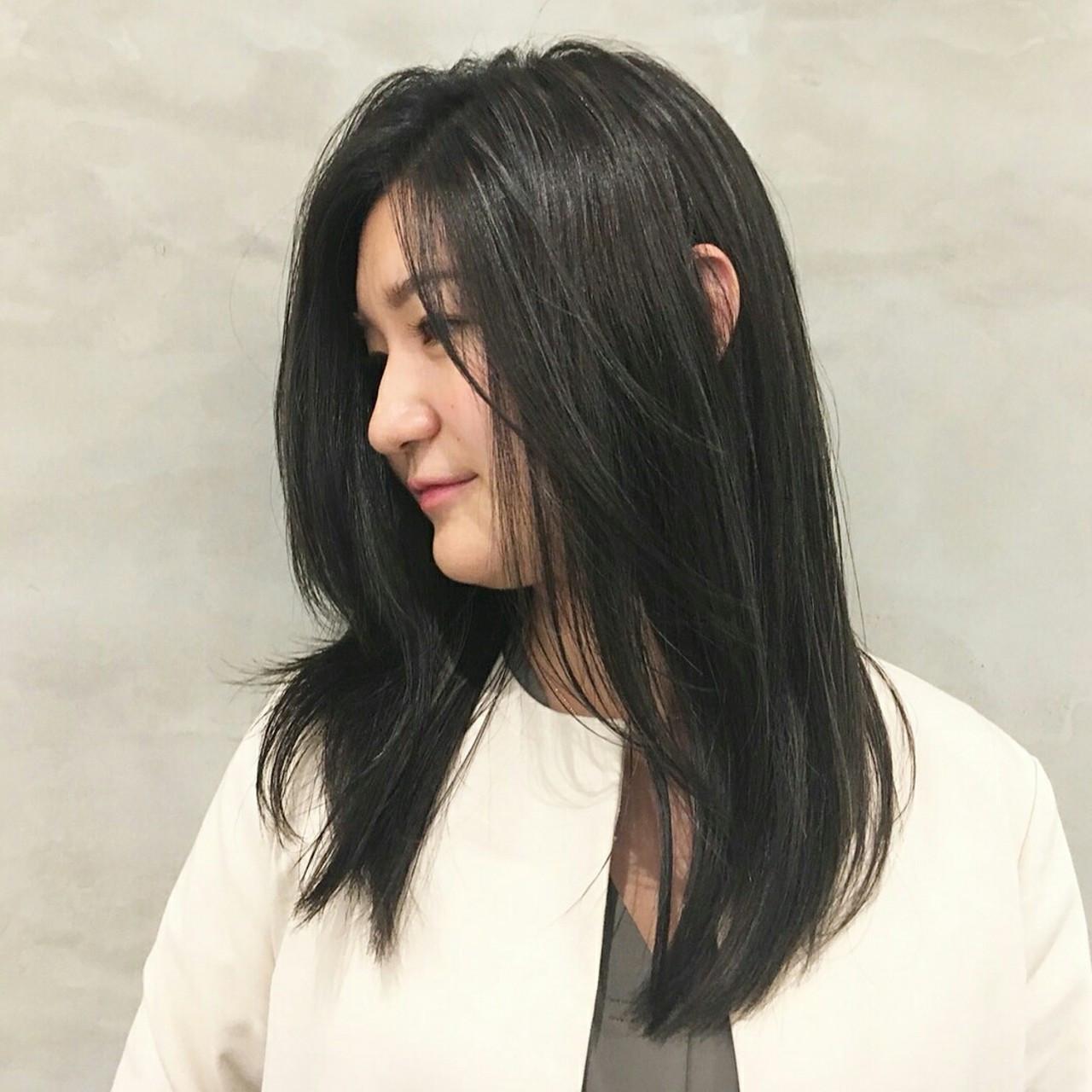ロング コンサバ ハイライト 似合わせ ヘアスタイルや髪型の写真・画像