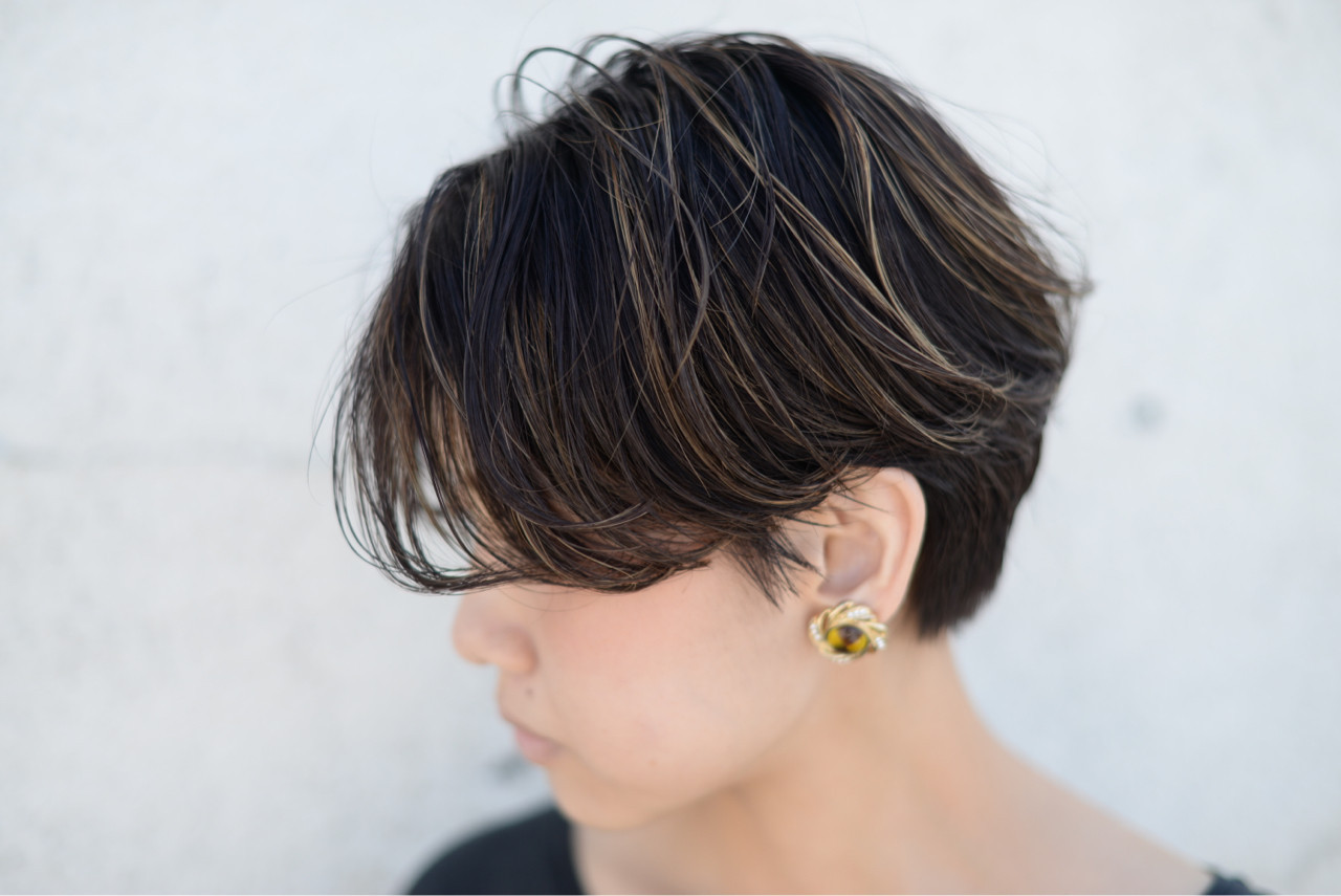 ウェーブ ストリート 外国人風 ハイライト ヘアスタイルや髪型の写真・画像