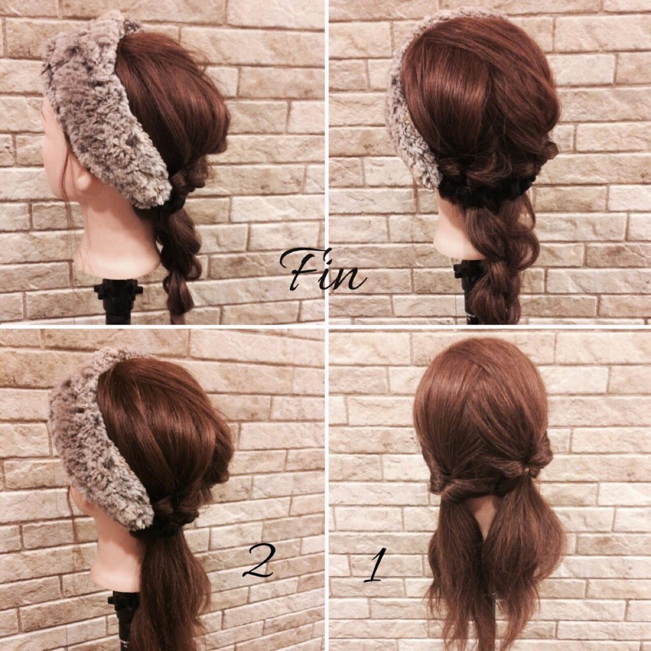 簡単ヘアアレンジ デート ヘアアレンジ ヘアアクセ ヘアスタイルや髪型の写真・画像