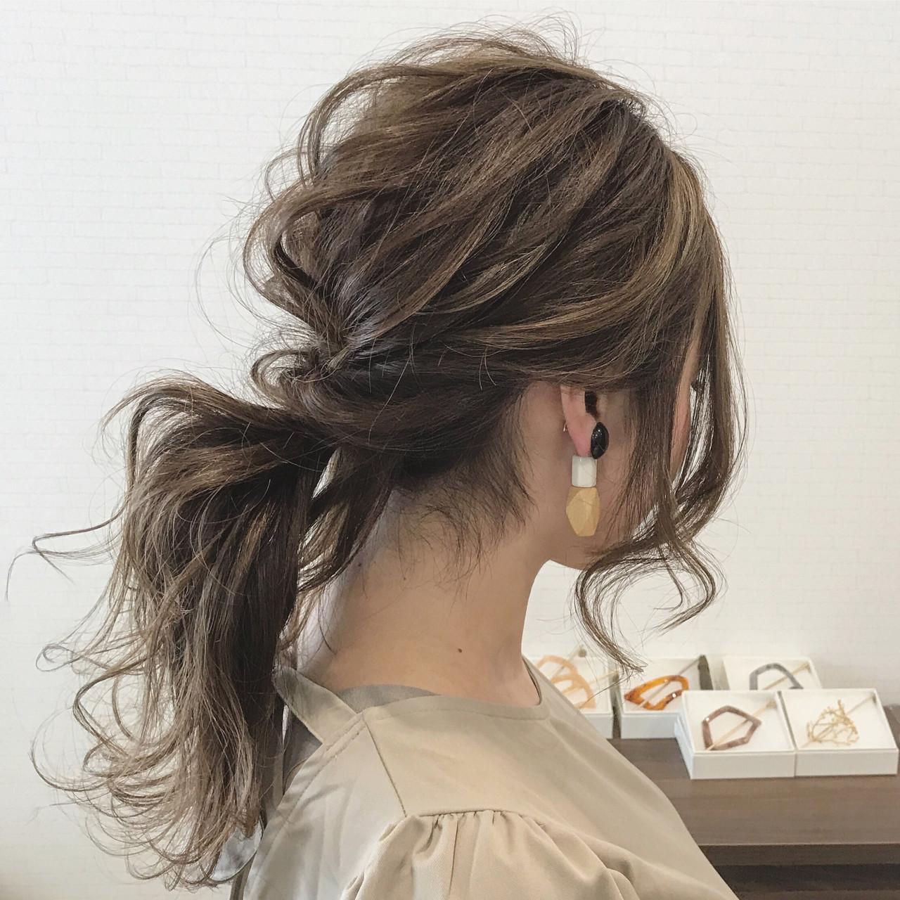 結婚式 大人かわいい 秋 ヘアアレンジ ヘアスタイルや髪型の写真・画像