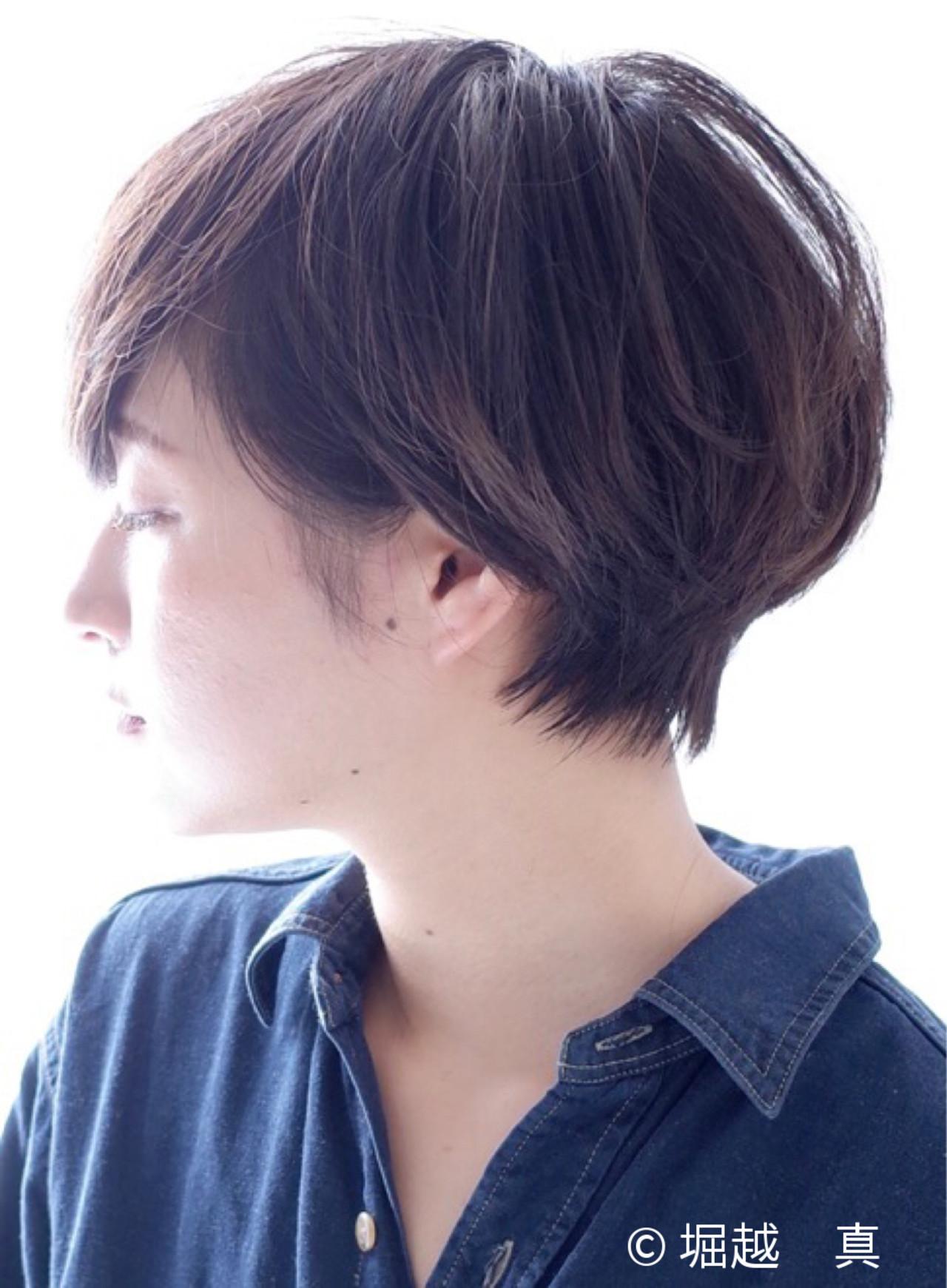 40代 ショート ナチュラル ゆるふわ ヘアスタイルや髪型の写真・画像