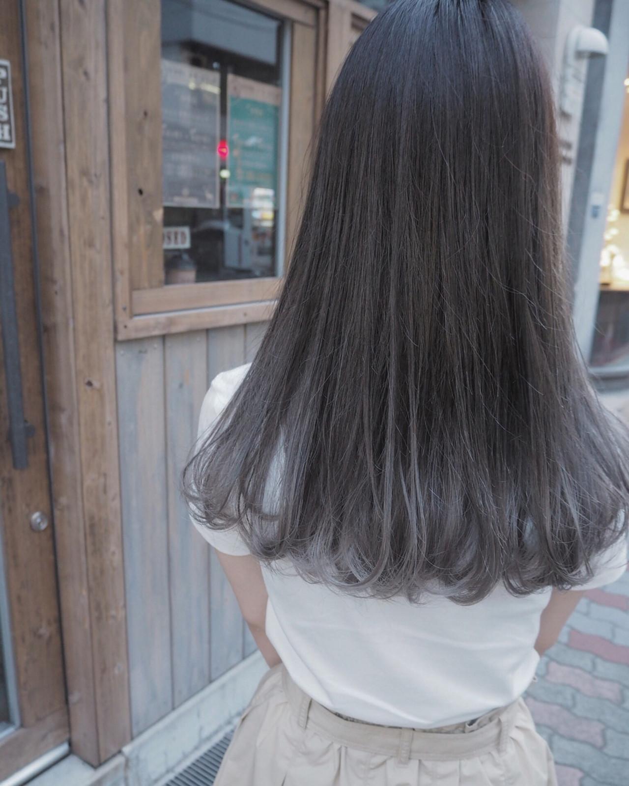 ロング ストリート リラックス 秋 ヘアスタイルや髪型の写真・画像
