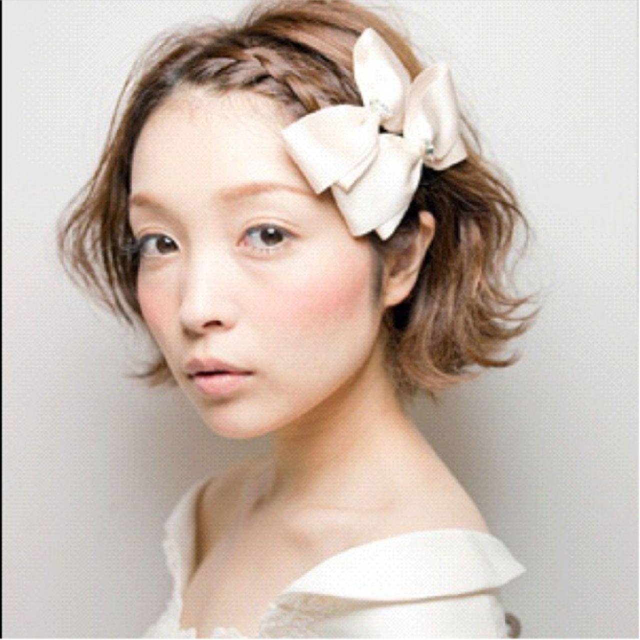 編み込み前髪でスウィートにキメて♡ 生山 暁