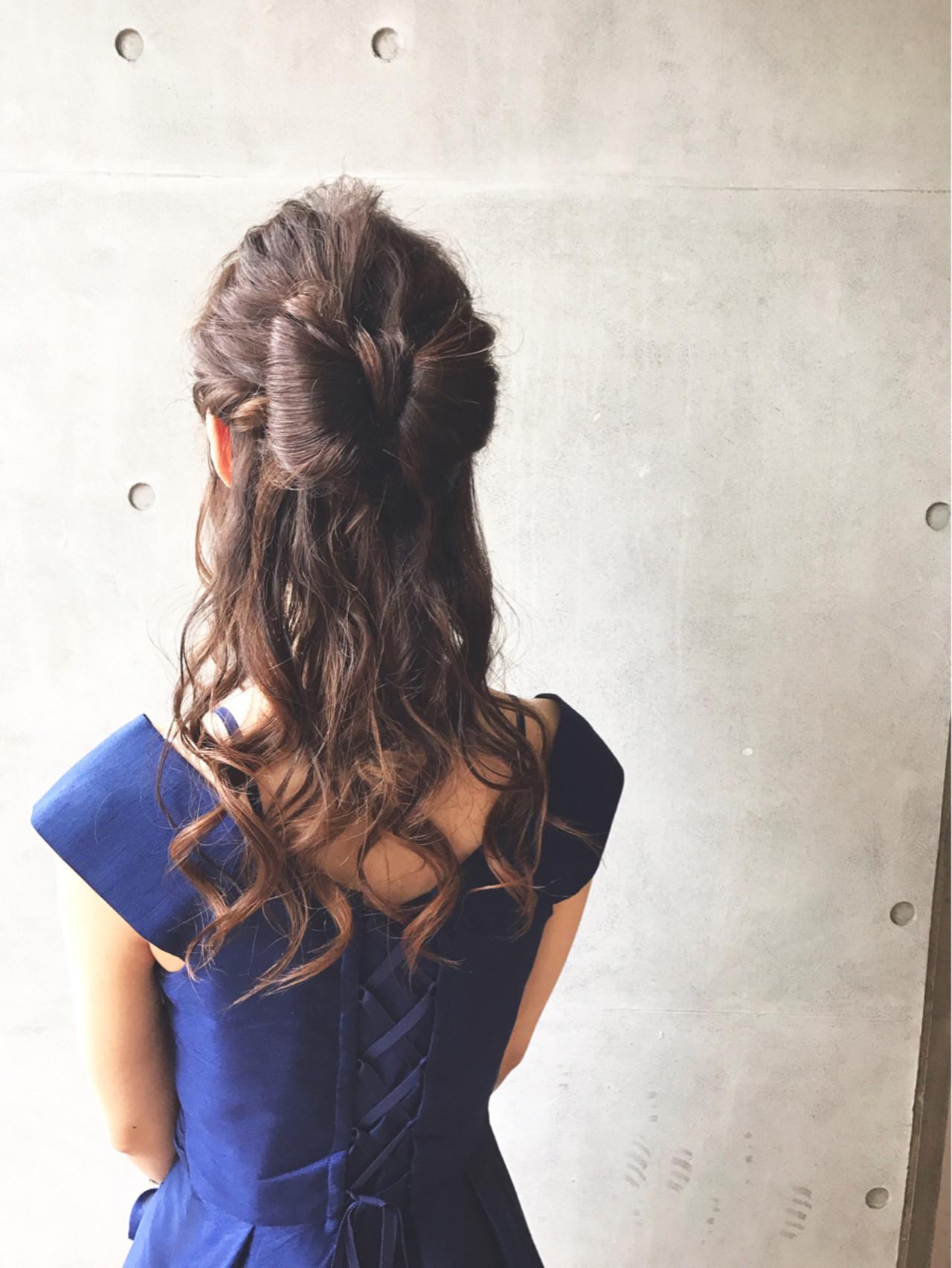 髪でリボンを作っちゃう大胆ヘアアレンジ 田渕裕紀