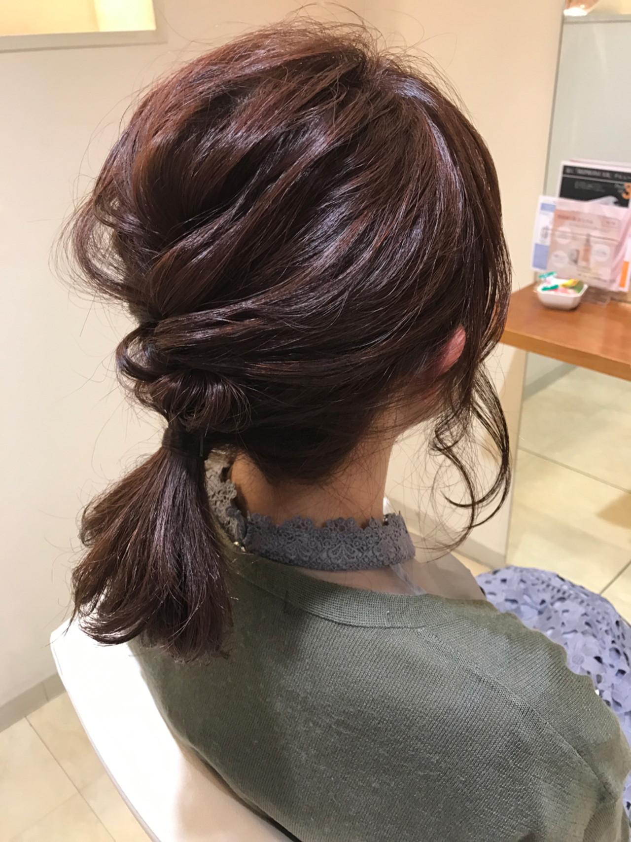 くるりんぱでボリュームを出したローポニー 小田 孝一 | Oase makoto brands