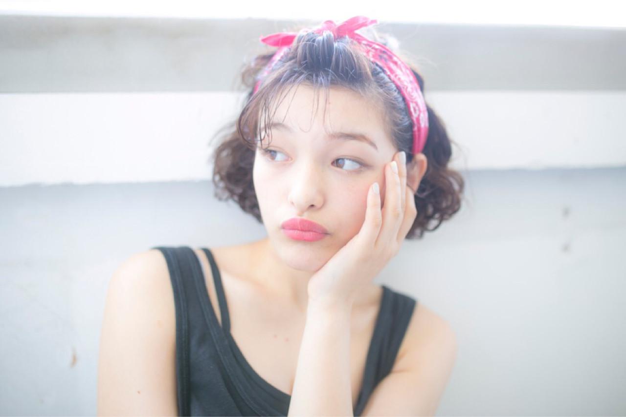 ショートボブとバンダナは相性抜群♡ 松尾 芳晴