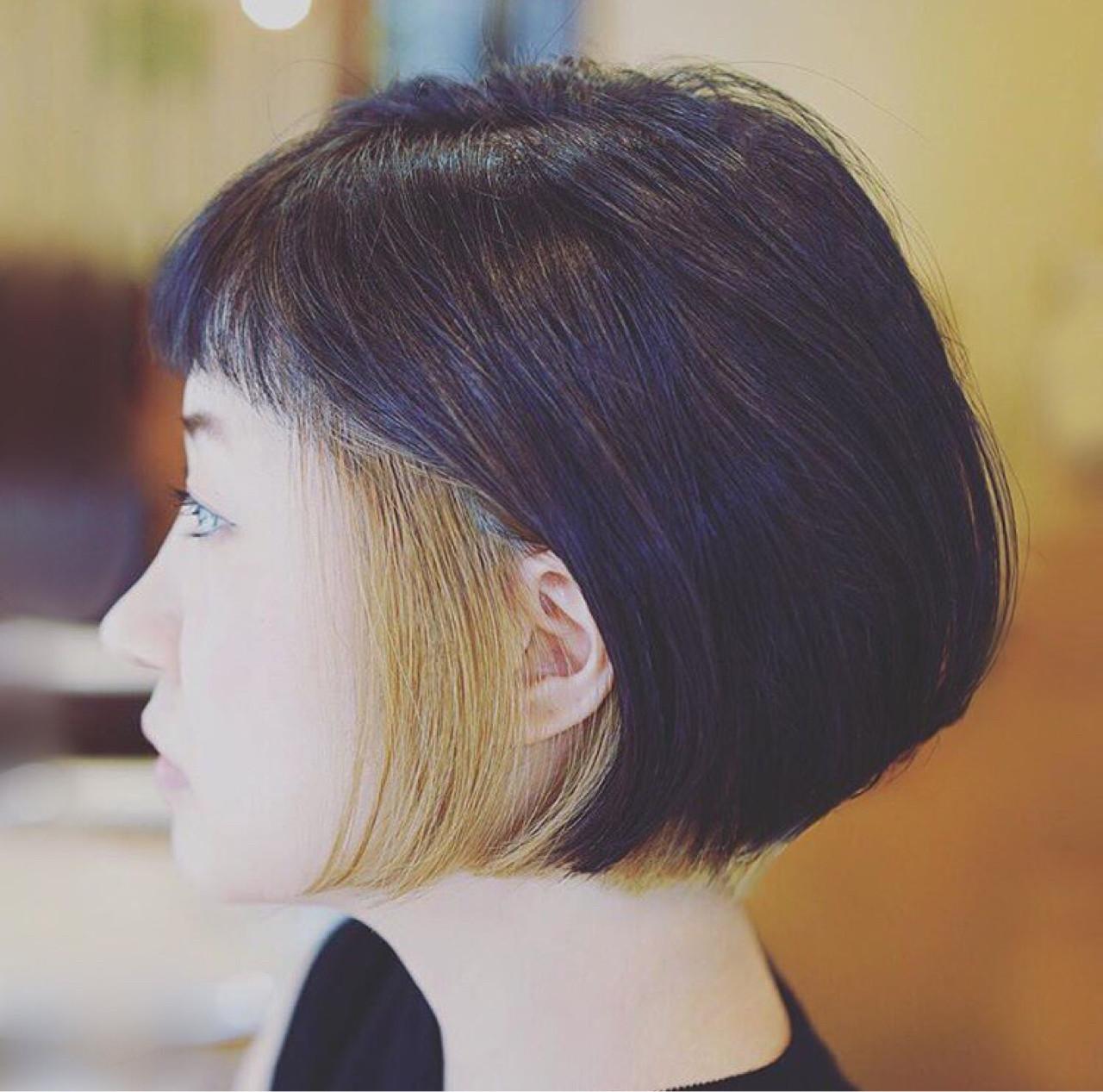 チラ見せインナーカラーが個性的 Tadao Shimodaira/FLOW