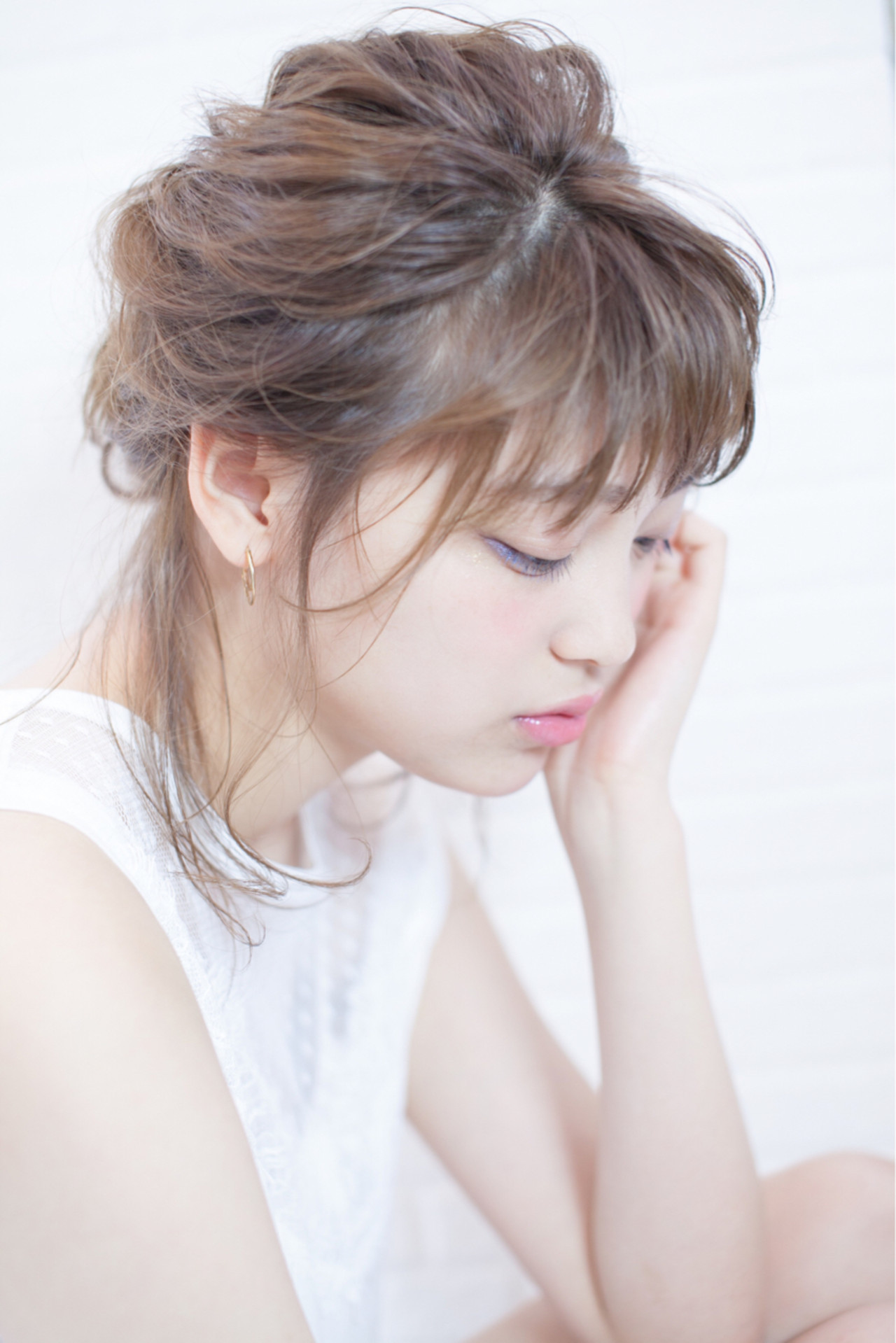 直毛×くるりんぱのヘアアレンジ♡ 四関 隼人