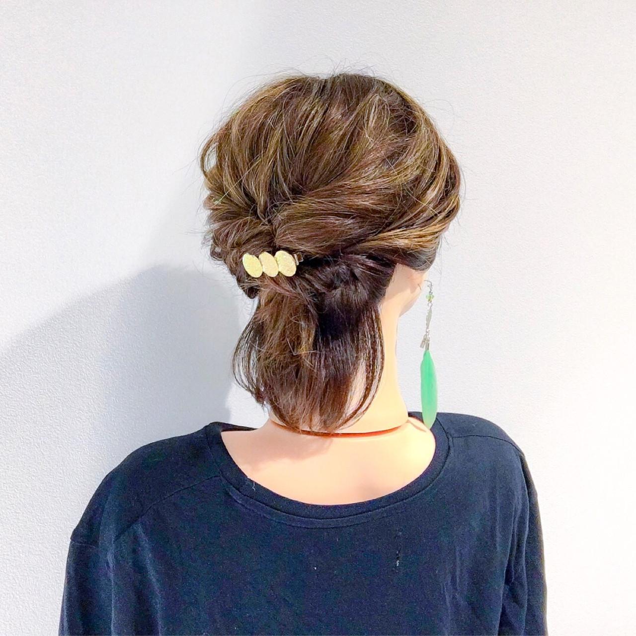 ヘアアレンジ 簡単ヘアアレンジ 結婚式 上品 ヘアスタイルや髪型の写真・画像